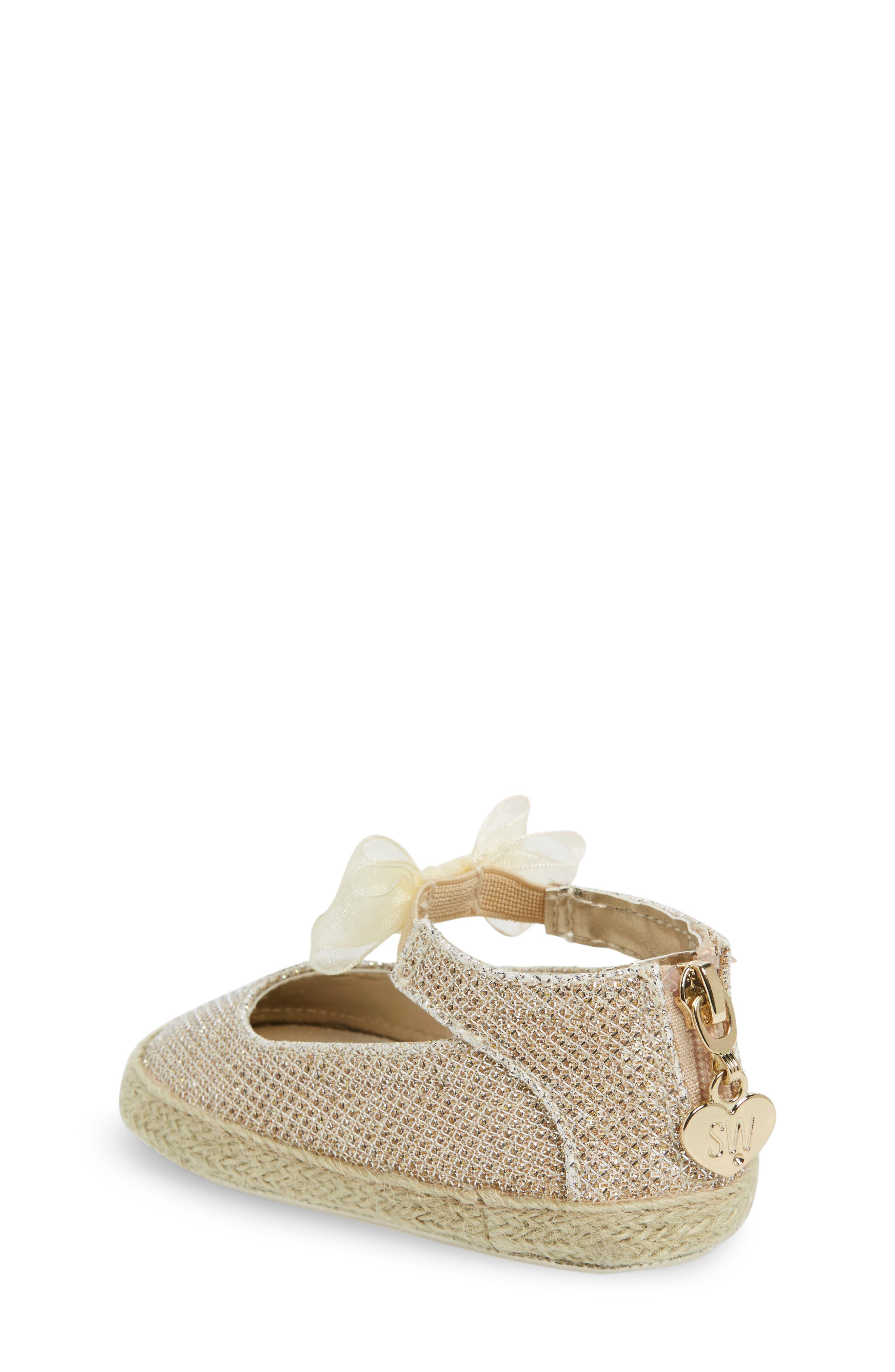 Alternate Image 2  - Stuart Weitzman Baby Nantucket Crib Shoe (Baby)