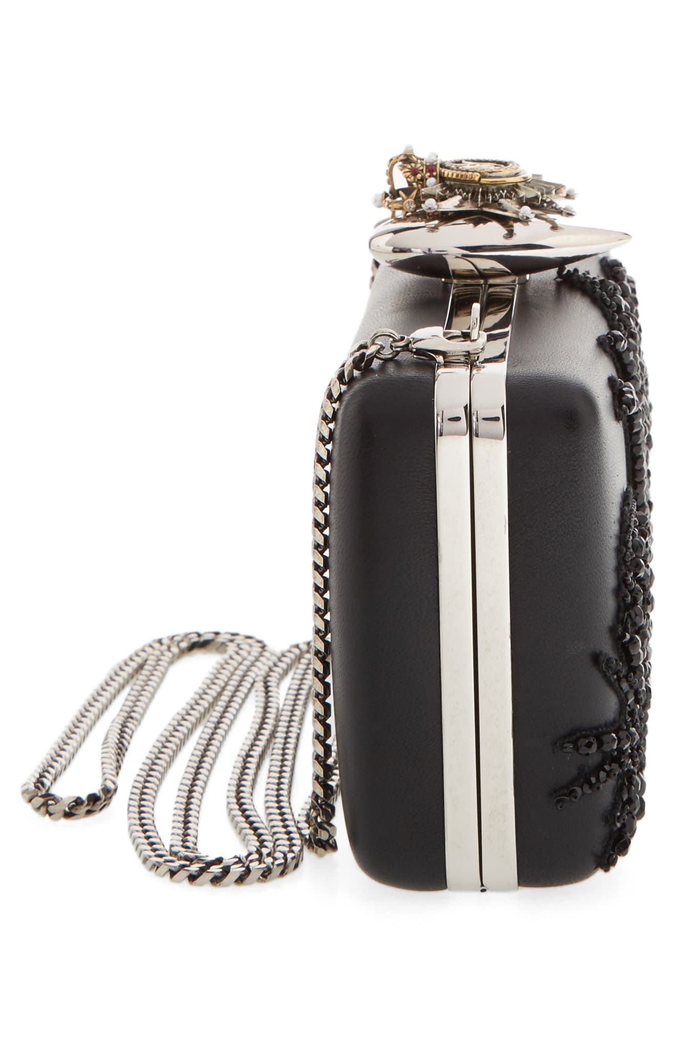 Alternate Image 5  - Alexander McQueen Embellished Nappa Leather Clutch