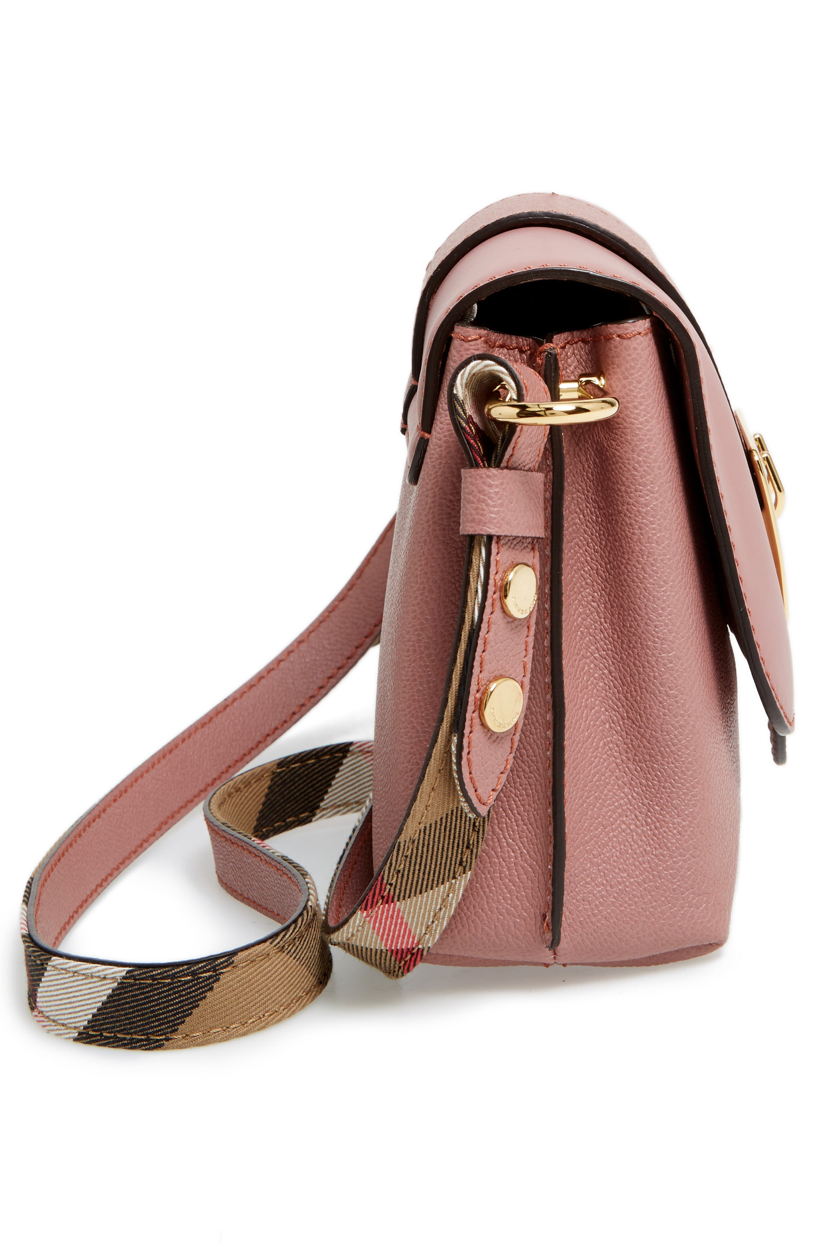 Small Medley Leather Shoulder Bag,                             Alternate thumbnail 5, color,                             Dusty Pink