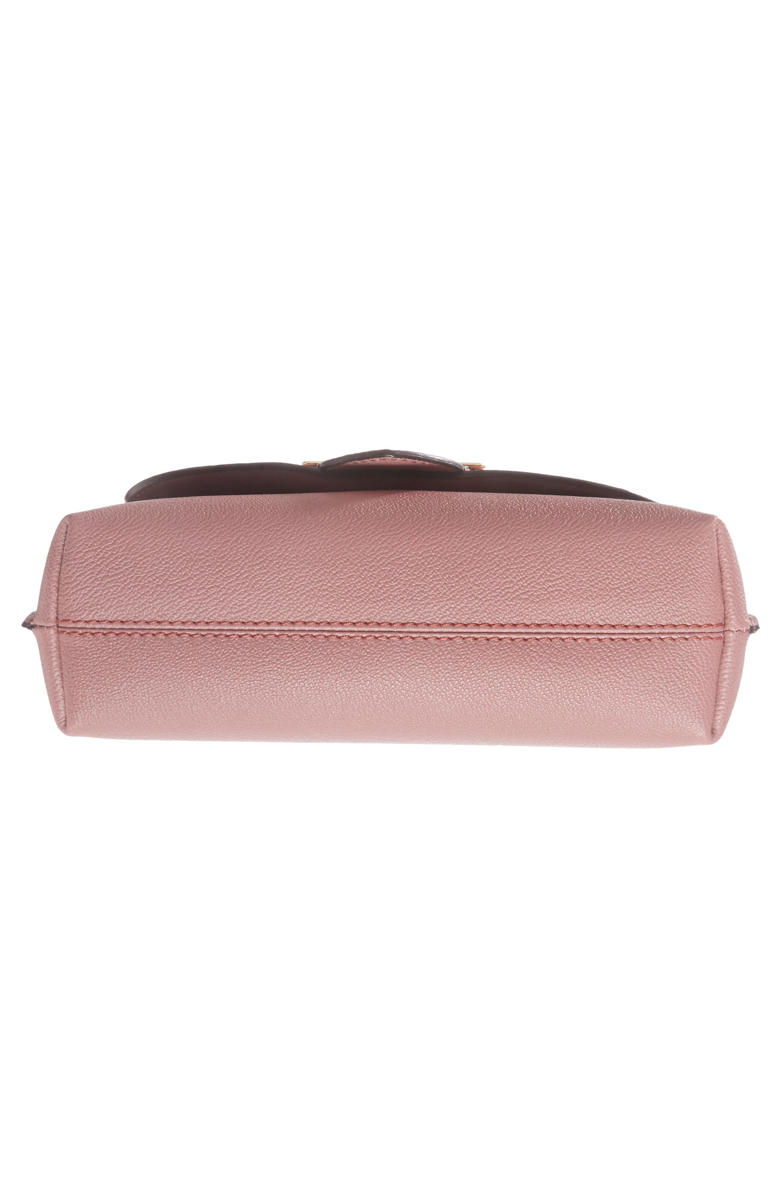 Small Medley Leather Shoulder Bag,                             Alternate thumbnail 6, color,                             Dusty Pink