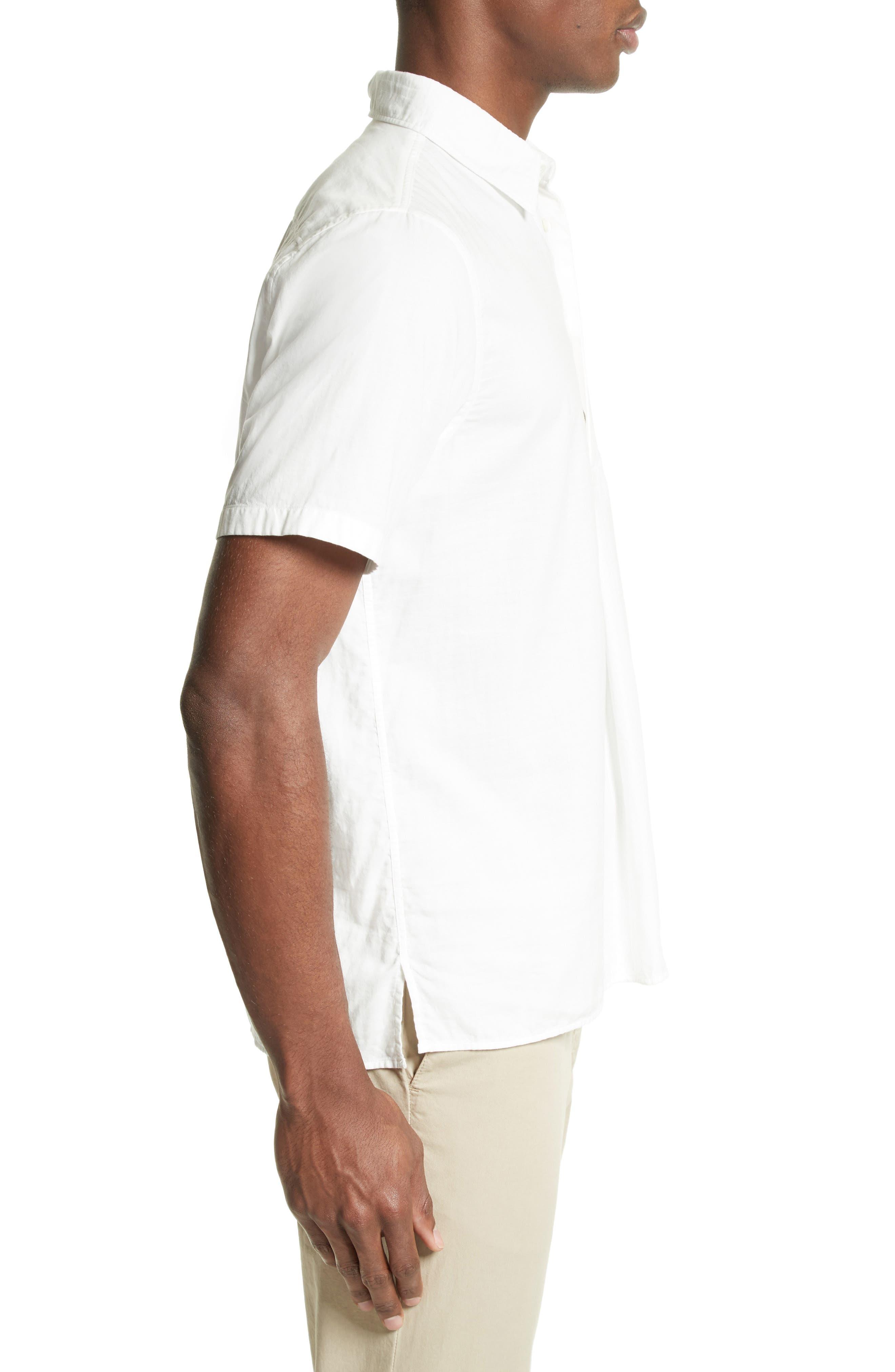 Woven Sport Shirt,                             Alternate thumbnail 3, color,                             White