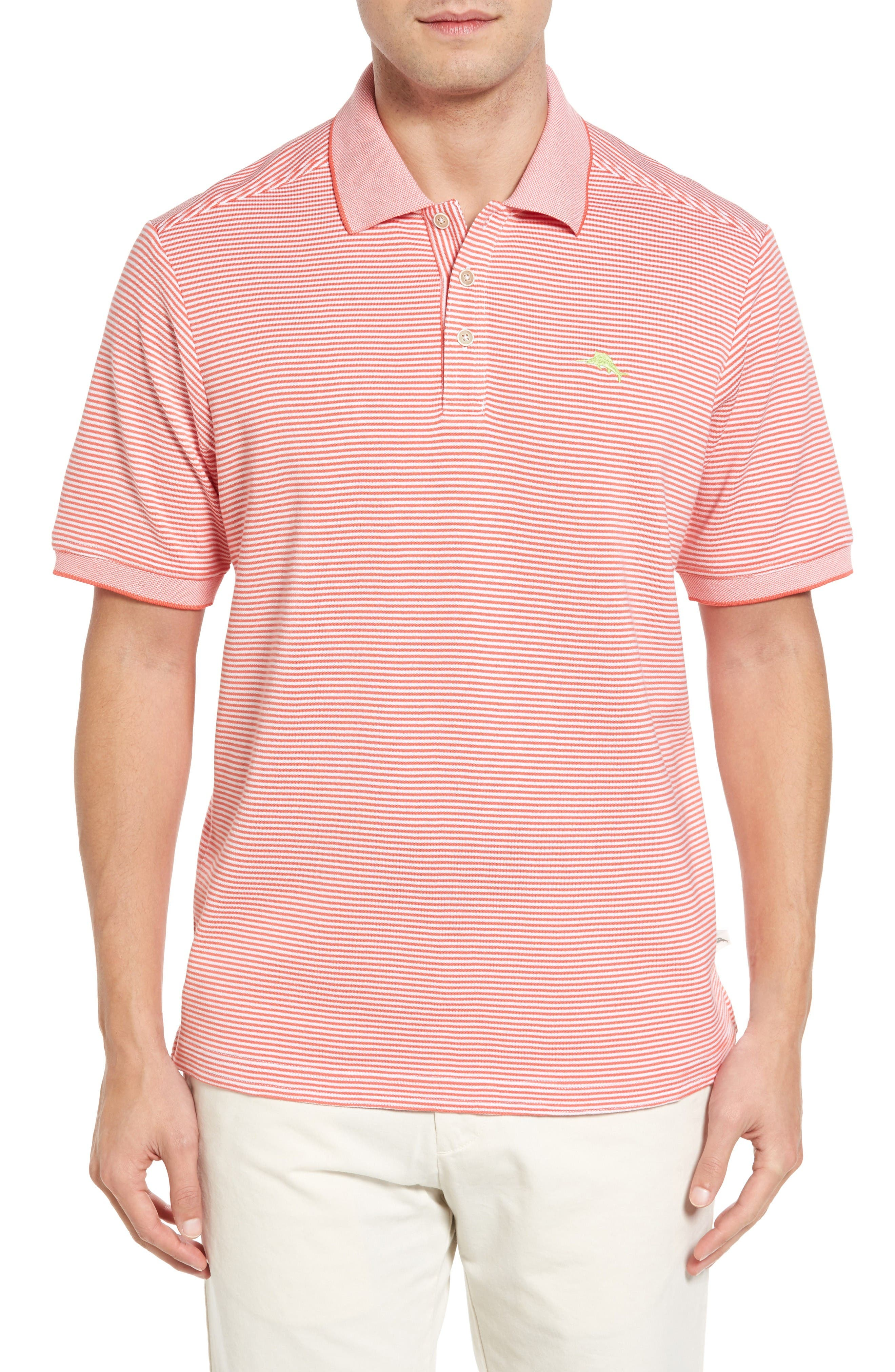 Alternate Image 1 Selected - Tommy Bahama Emfielder Stripe Pima Cotton Blend Polo