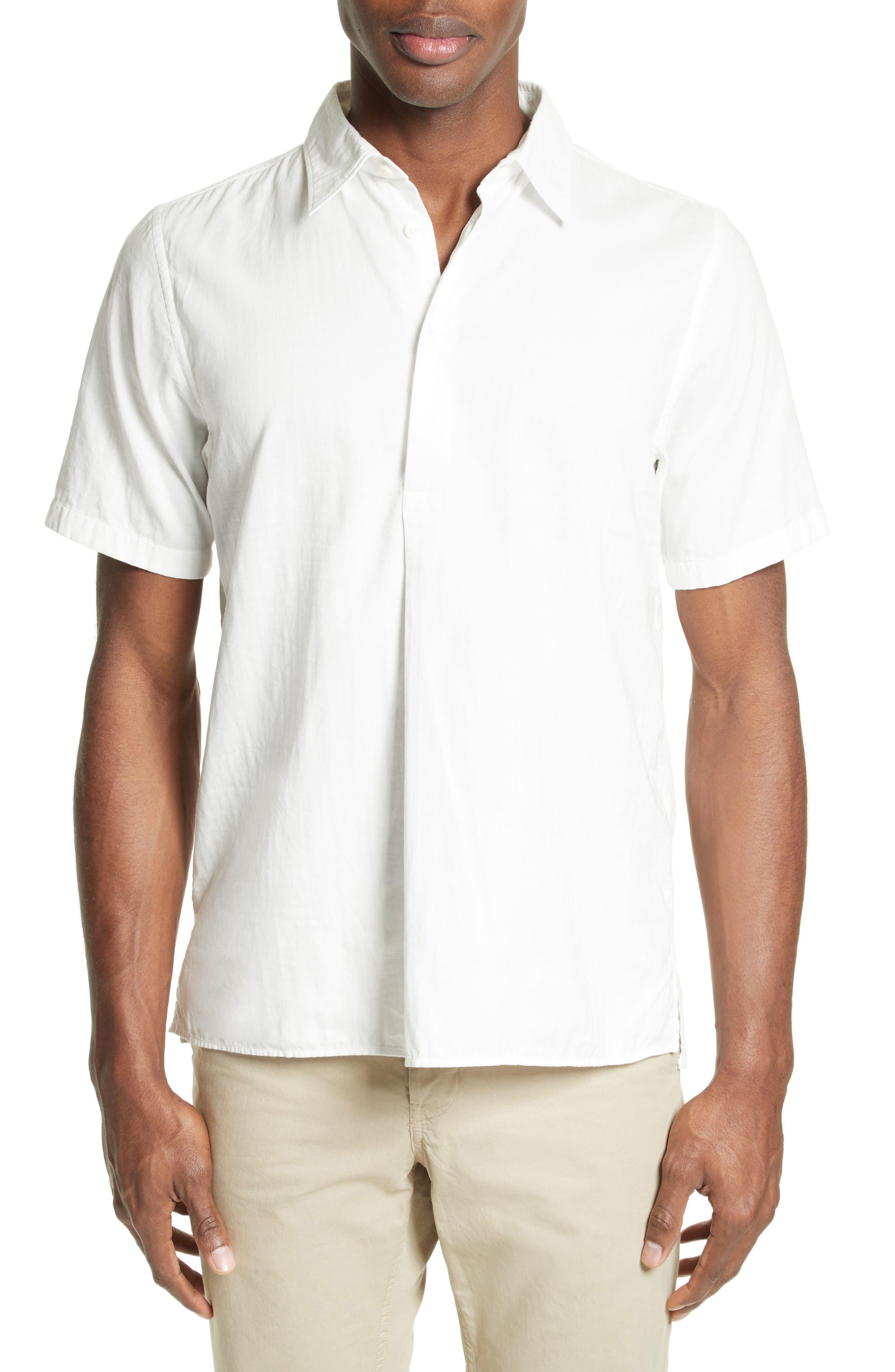 Woven Sport Shirt,                         Main,                         color, White