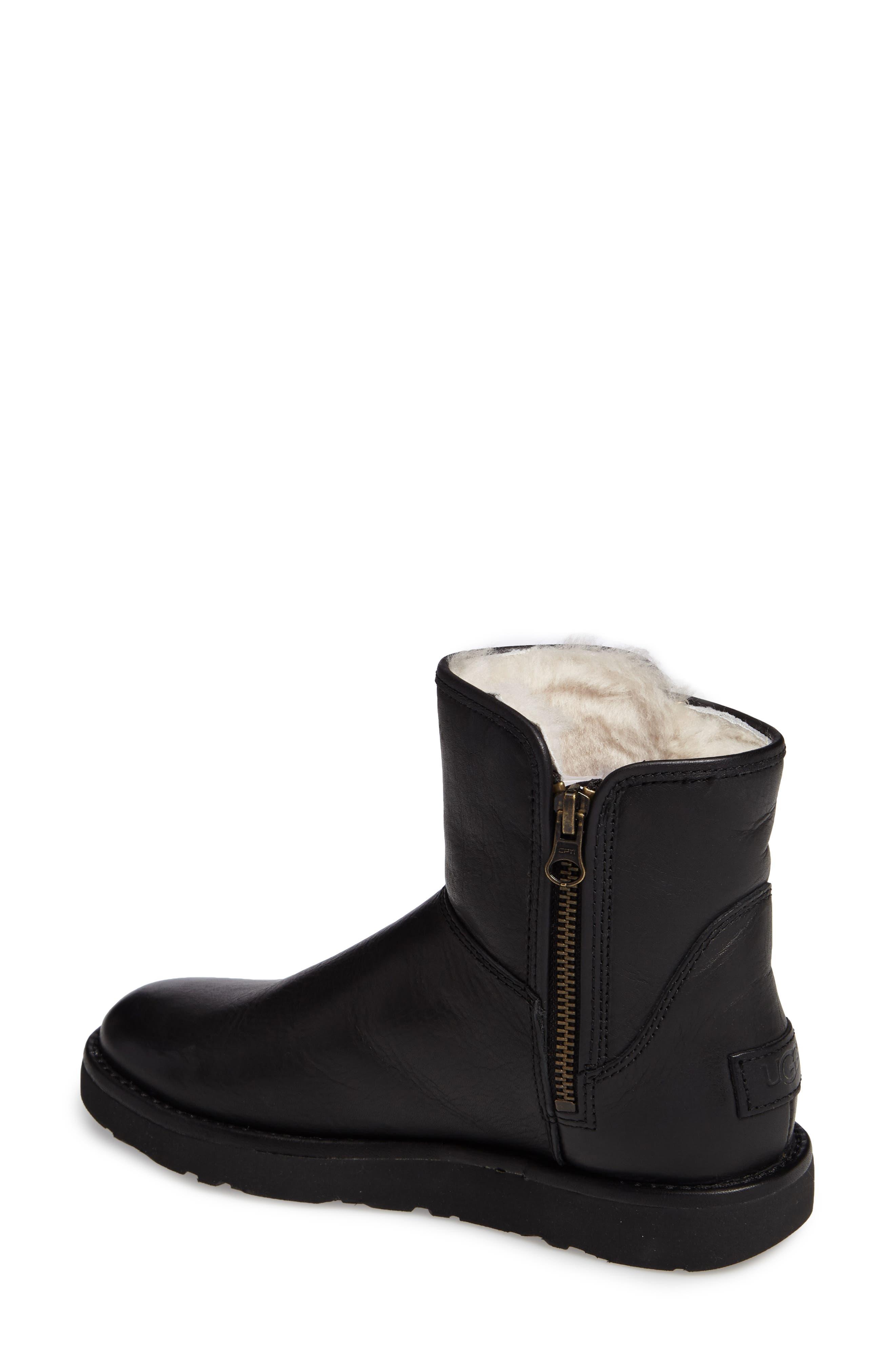 Abree Mini Boot,                             Alternate thumbnail 2, color,                             Black Leather