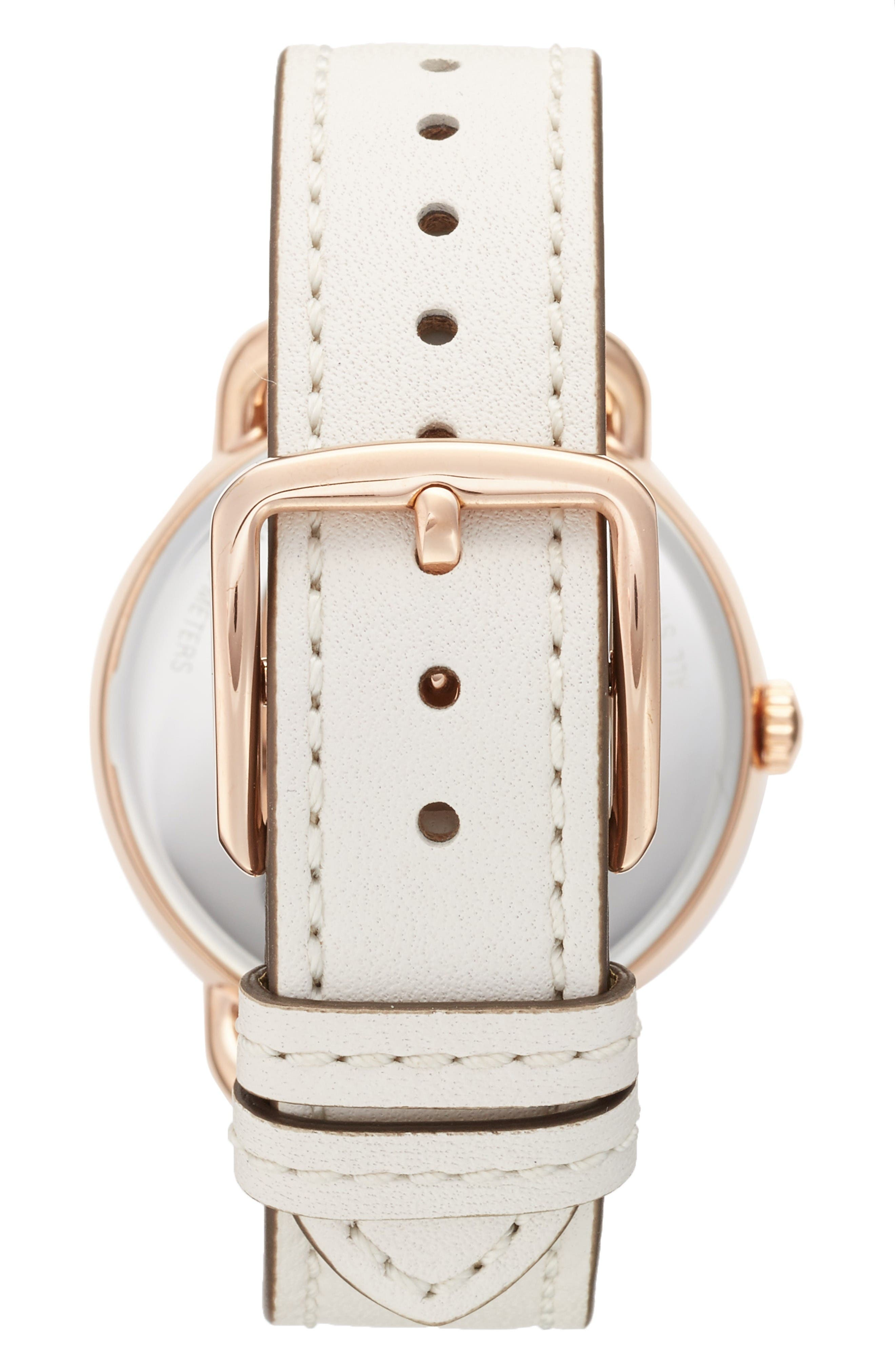 Alternate Image 2  - COACH Delancey Leather Strap Watch, 36mm