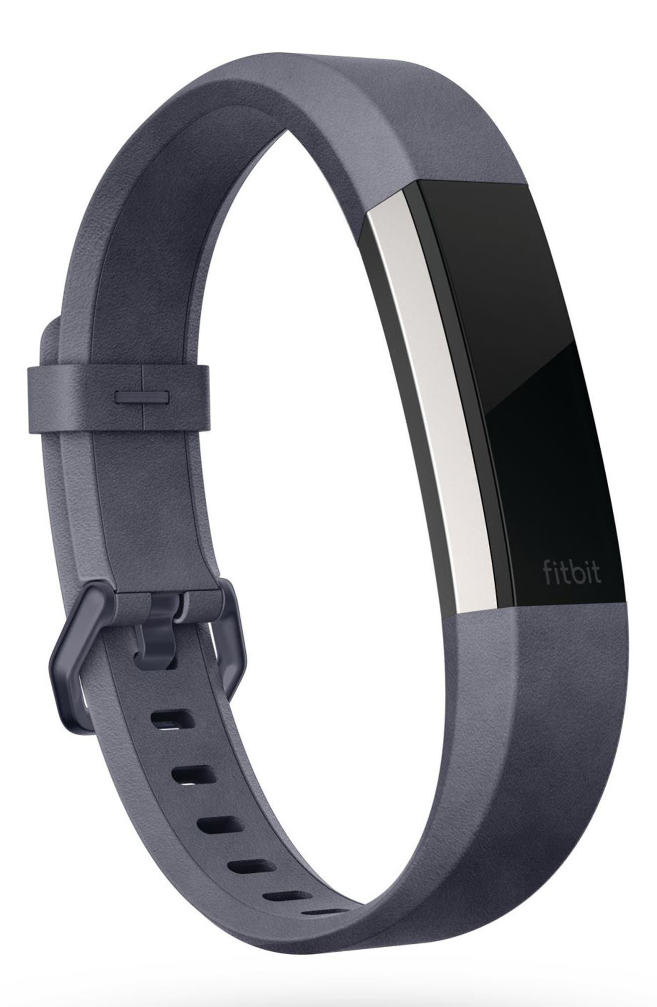 Alternate Image 2  - Fitbit Alta HR Leather Accessory Band