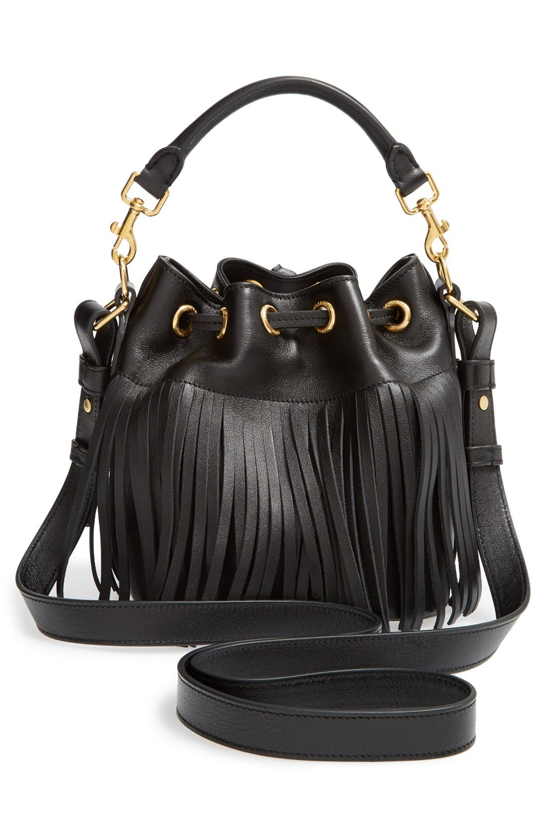 Alternate Image 6  - Saint Laurent Fringe Calfskin Bucket Bag