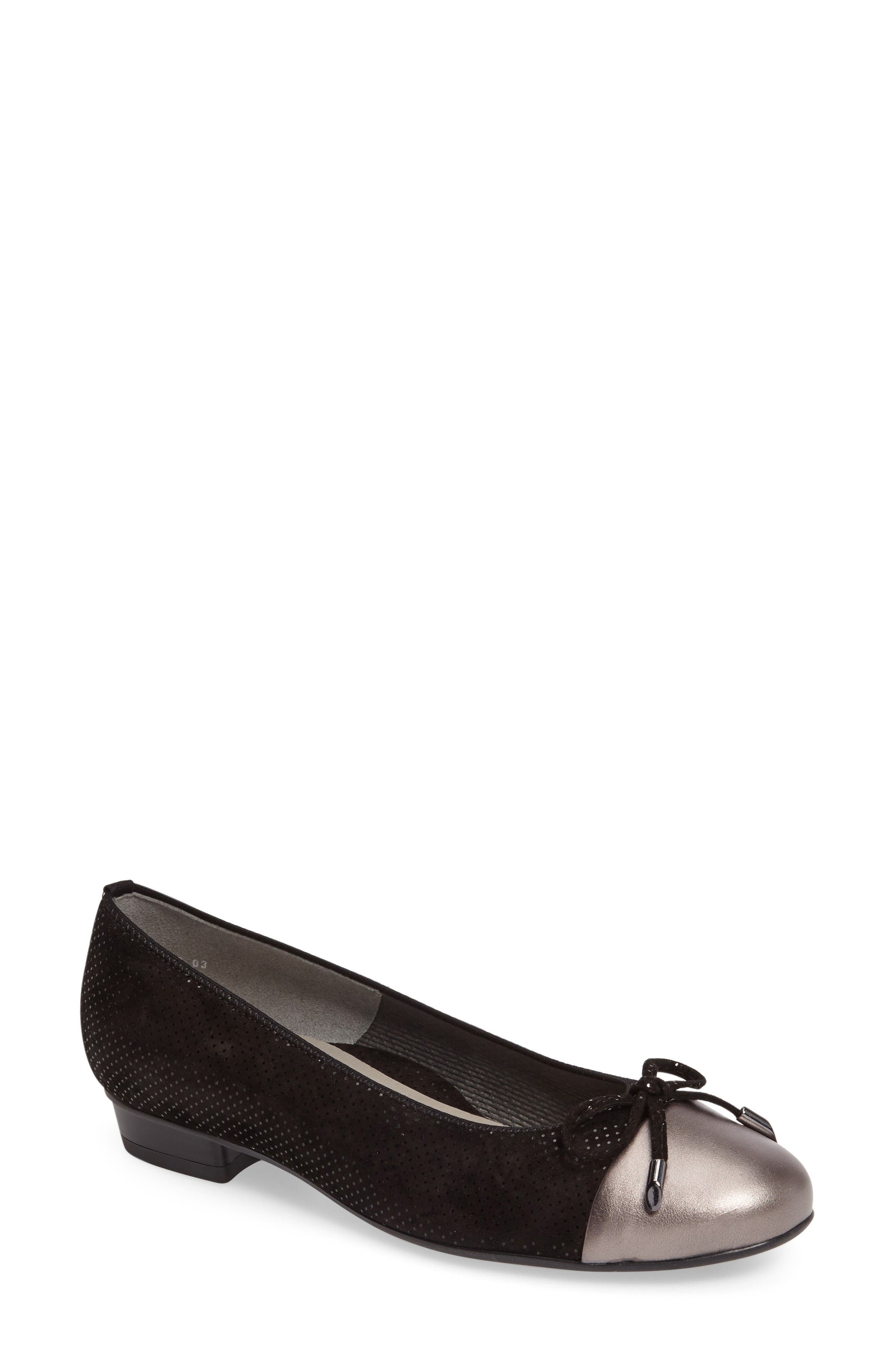 ara 'Betty' Cap Toe Flat (Women)