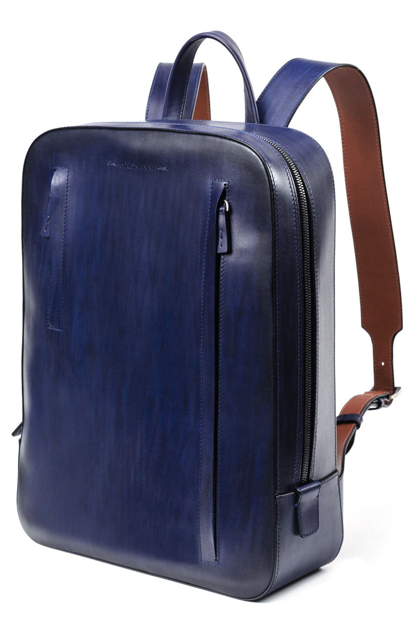 Leather Sport Backpack,                             Alternate thumbnail 2, color,                             Ocean