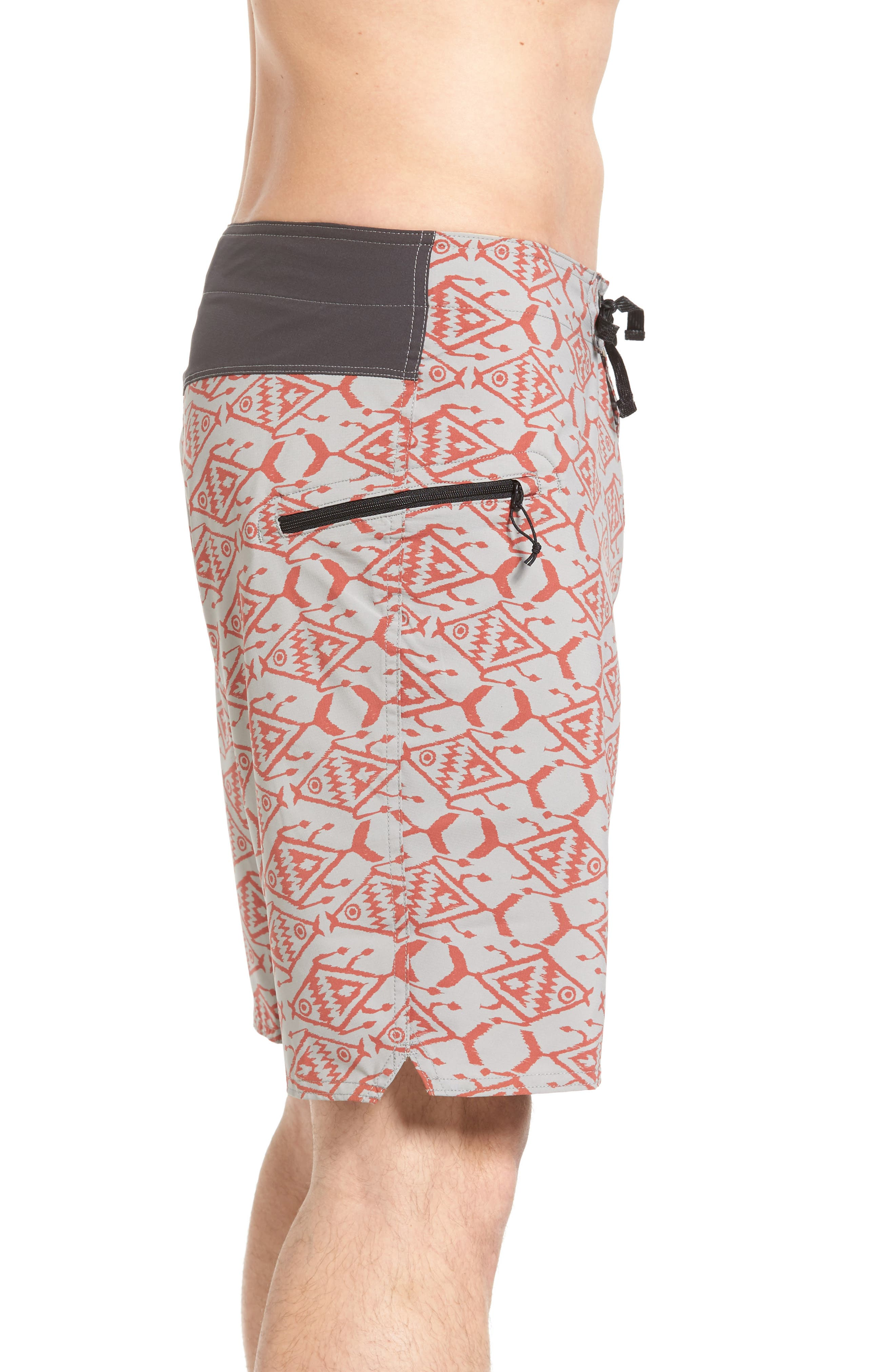 Stretch Planing Board Shorts,                             Alternate thumbnail 3, color,                             Spiced Coral