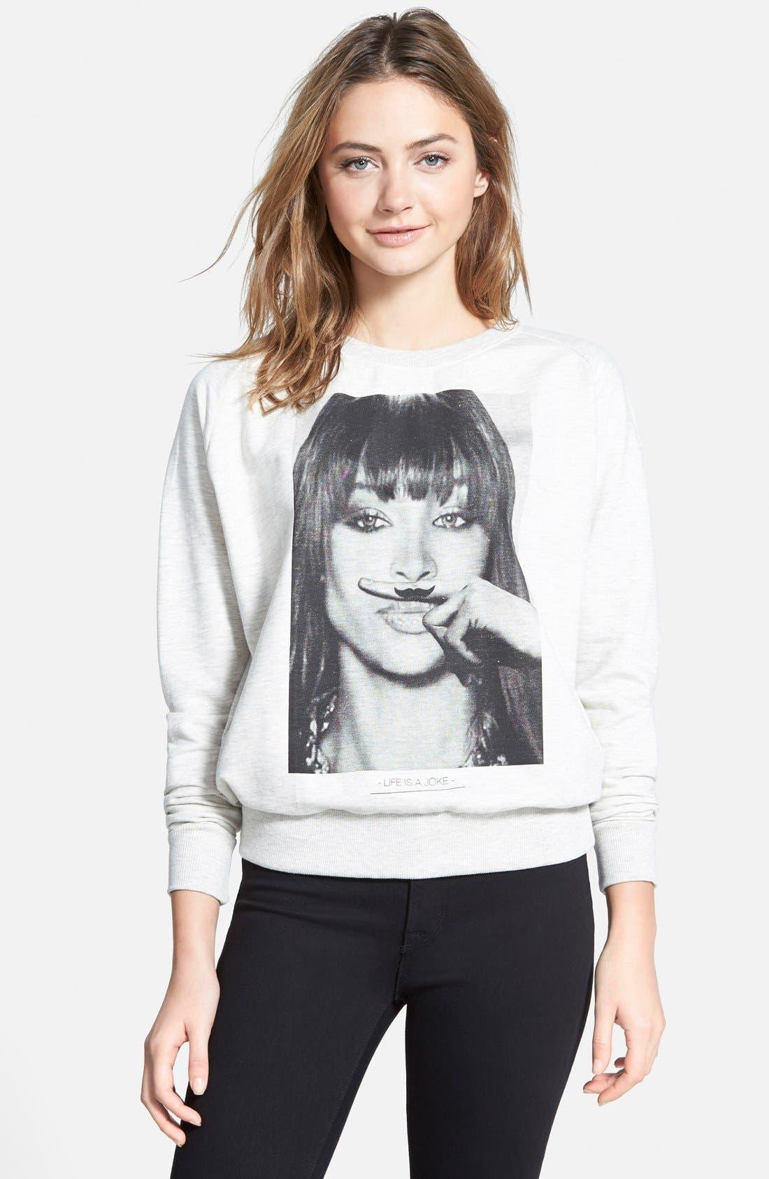 Alternate Image 1 Selected - ELEVENPARIS 'Life Is a Joke' Pullover Sweatshirt