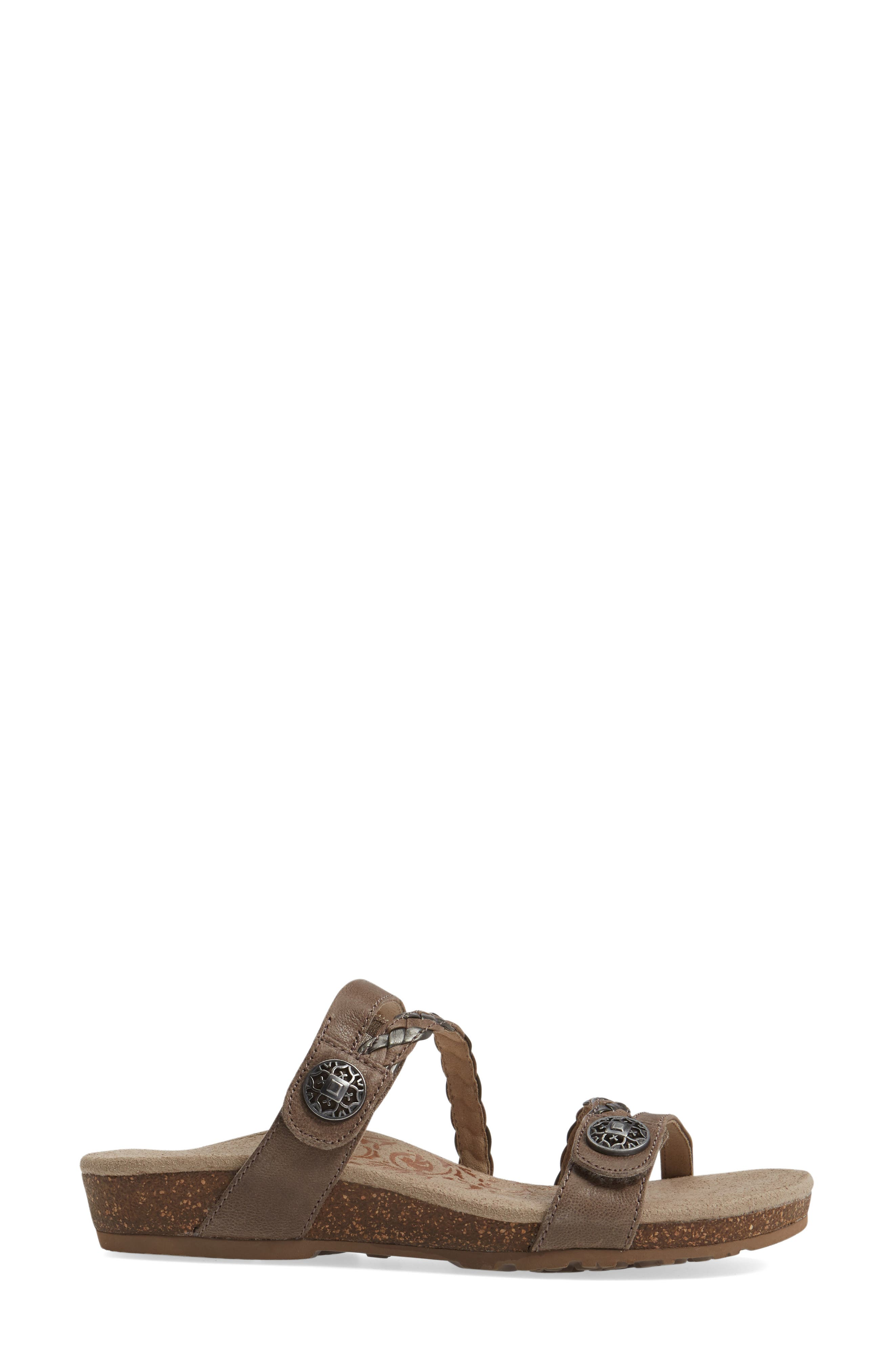 Alternate Image 3  - Aetrex Janey Braided Slide Sandal (Women)