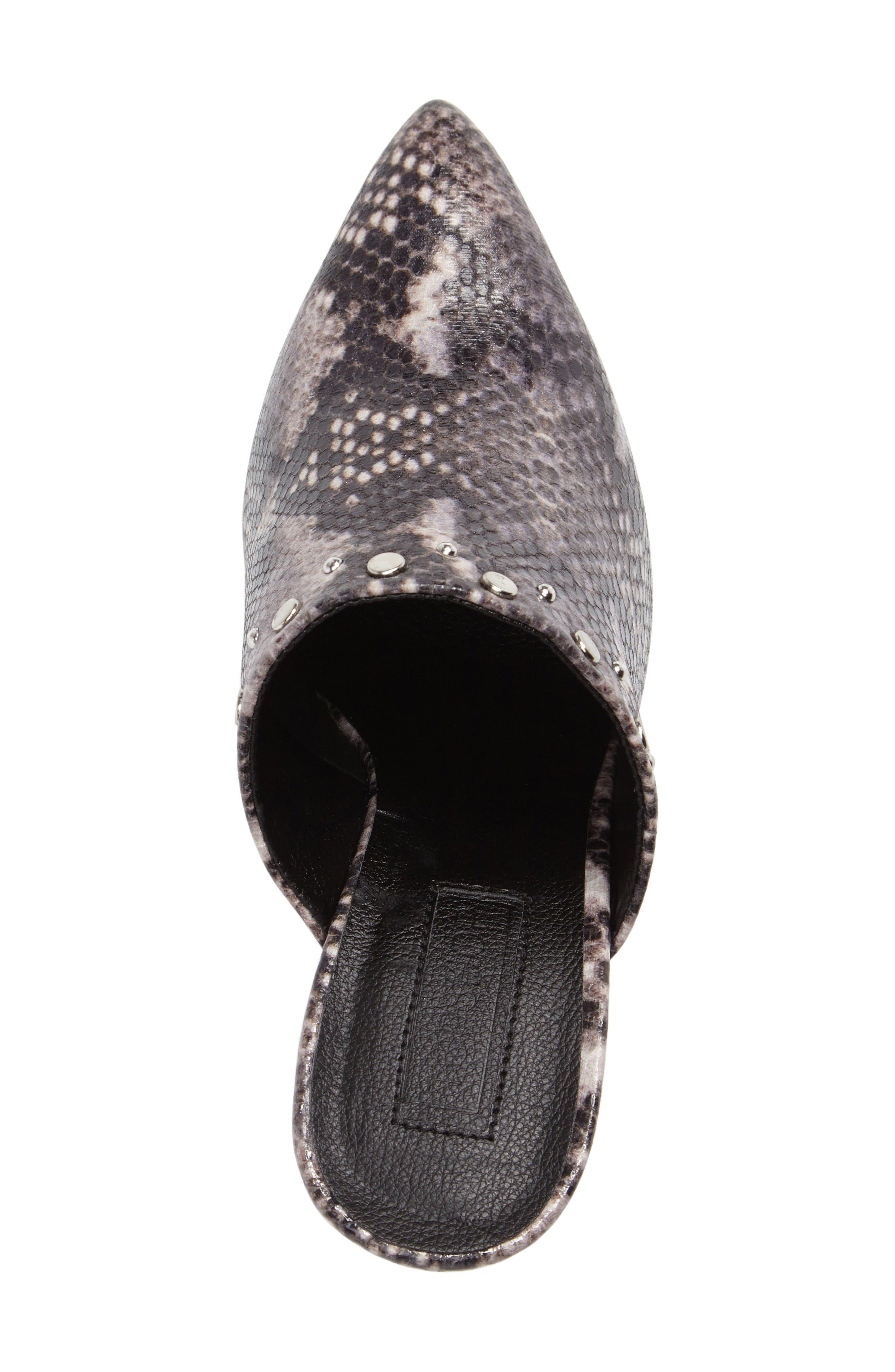 Alternate Image 5  - Topshop Studded Flared Heel Mule (Women)