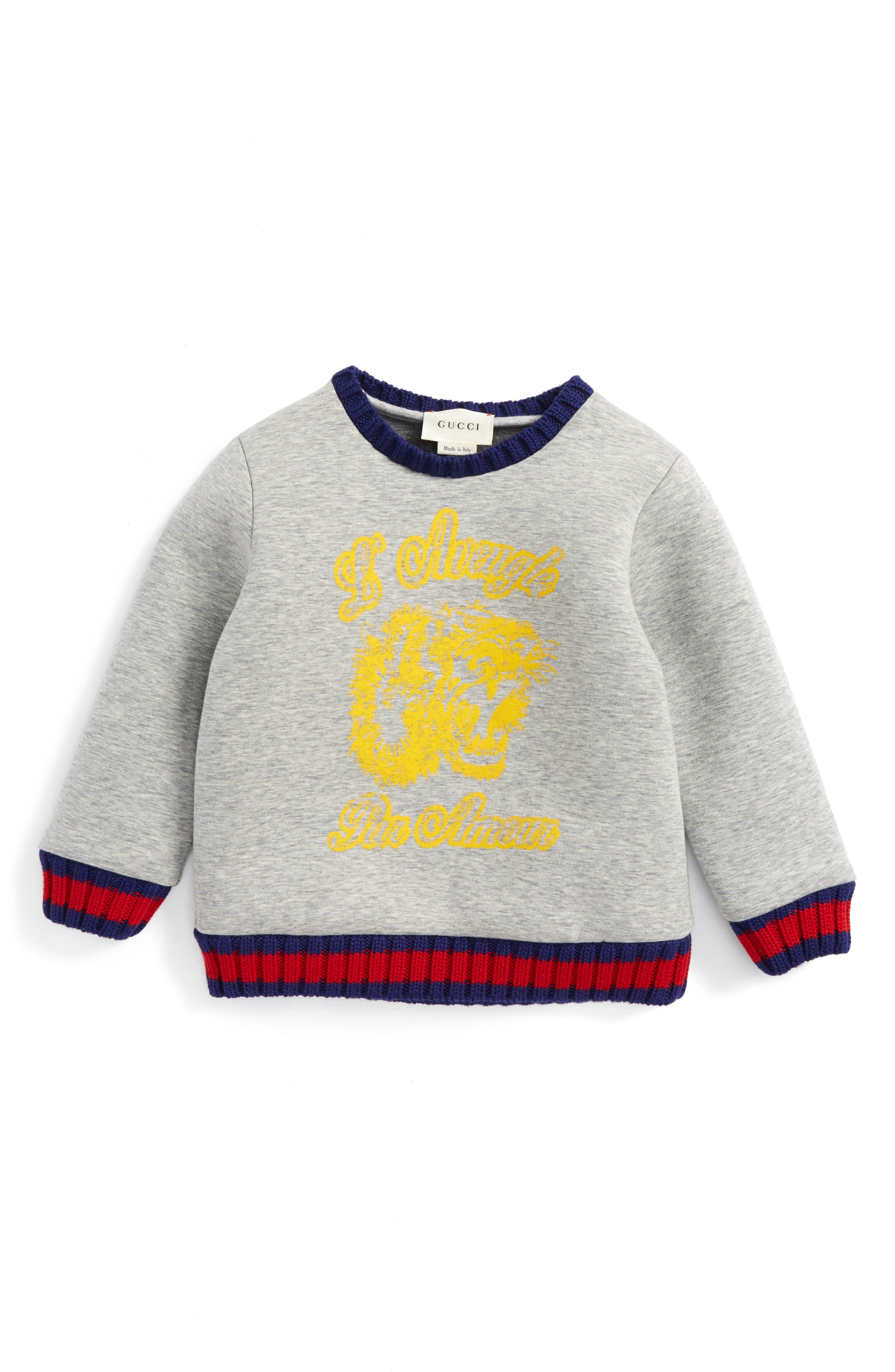 GUCCI Web Tiger Graphic Sweatshirt