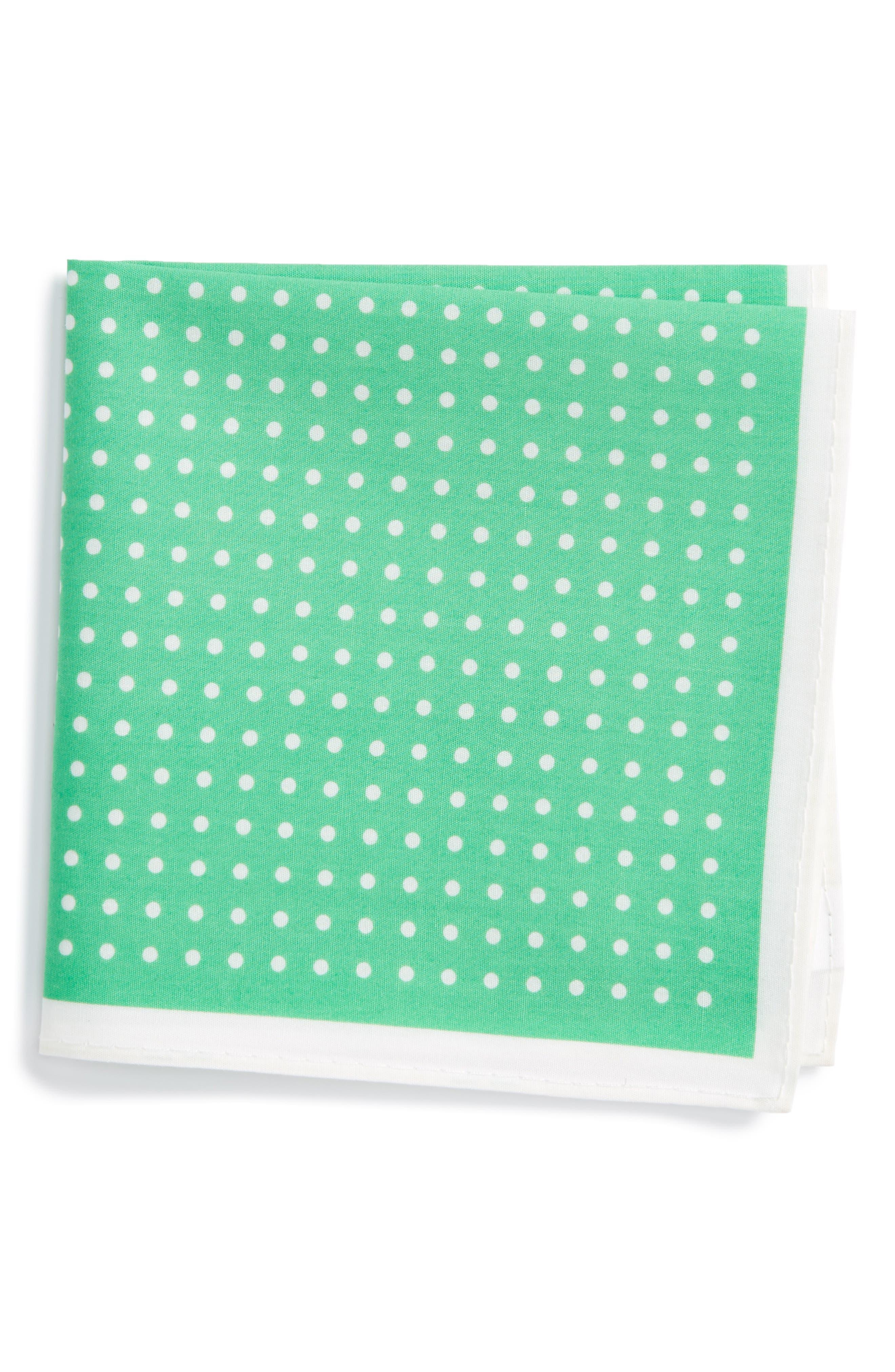 NORDSTROM Dot Cotton Pocket Square