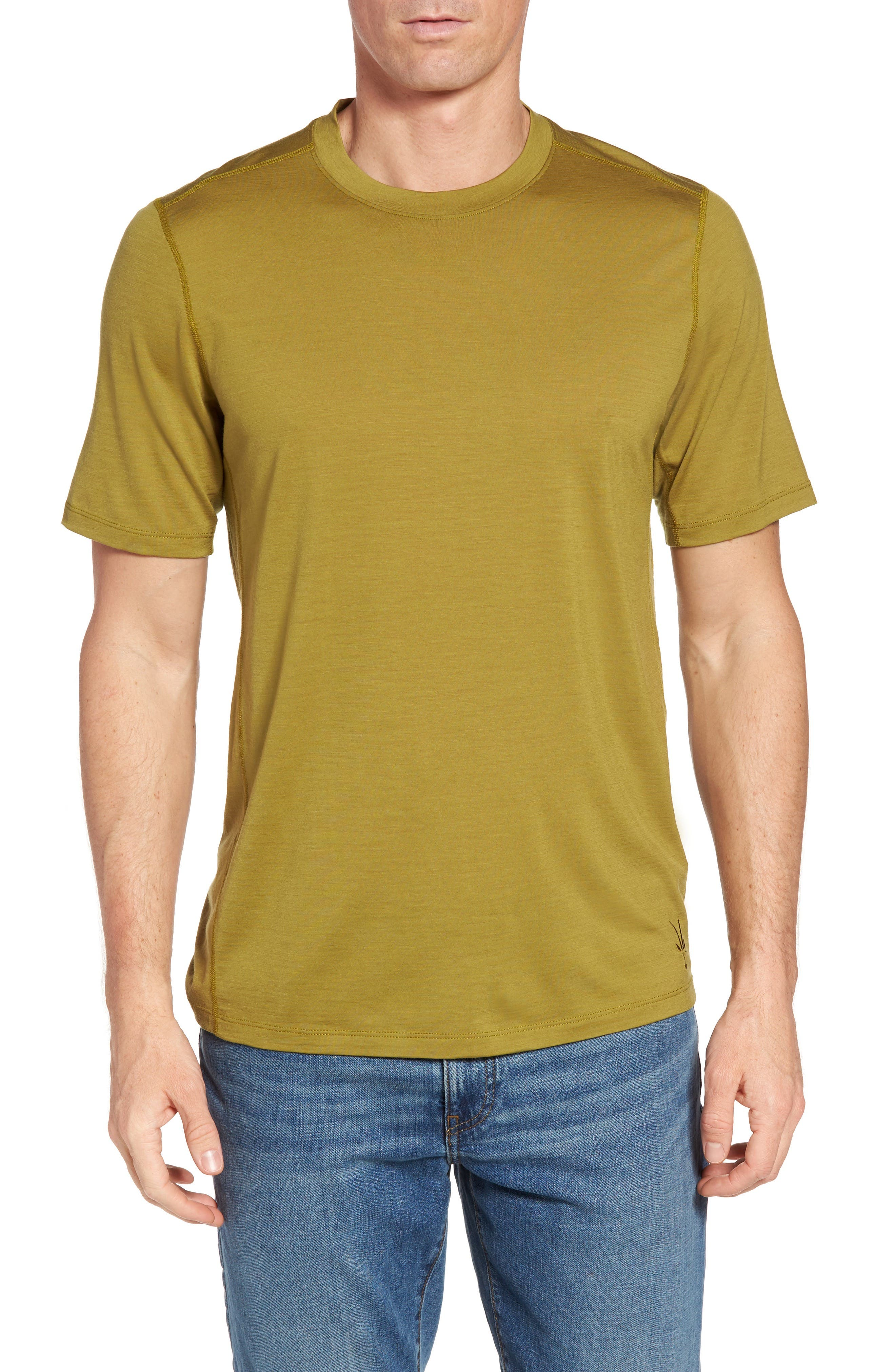 'All Day Weightless Wool Blend' T-Shirt,                         Main,                         color, Komodo