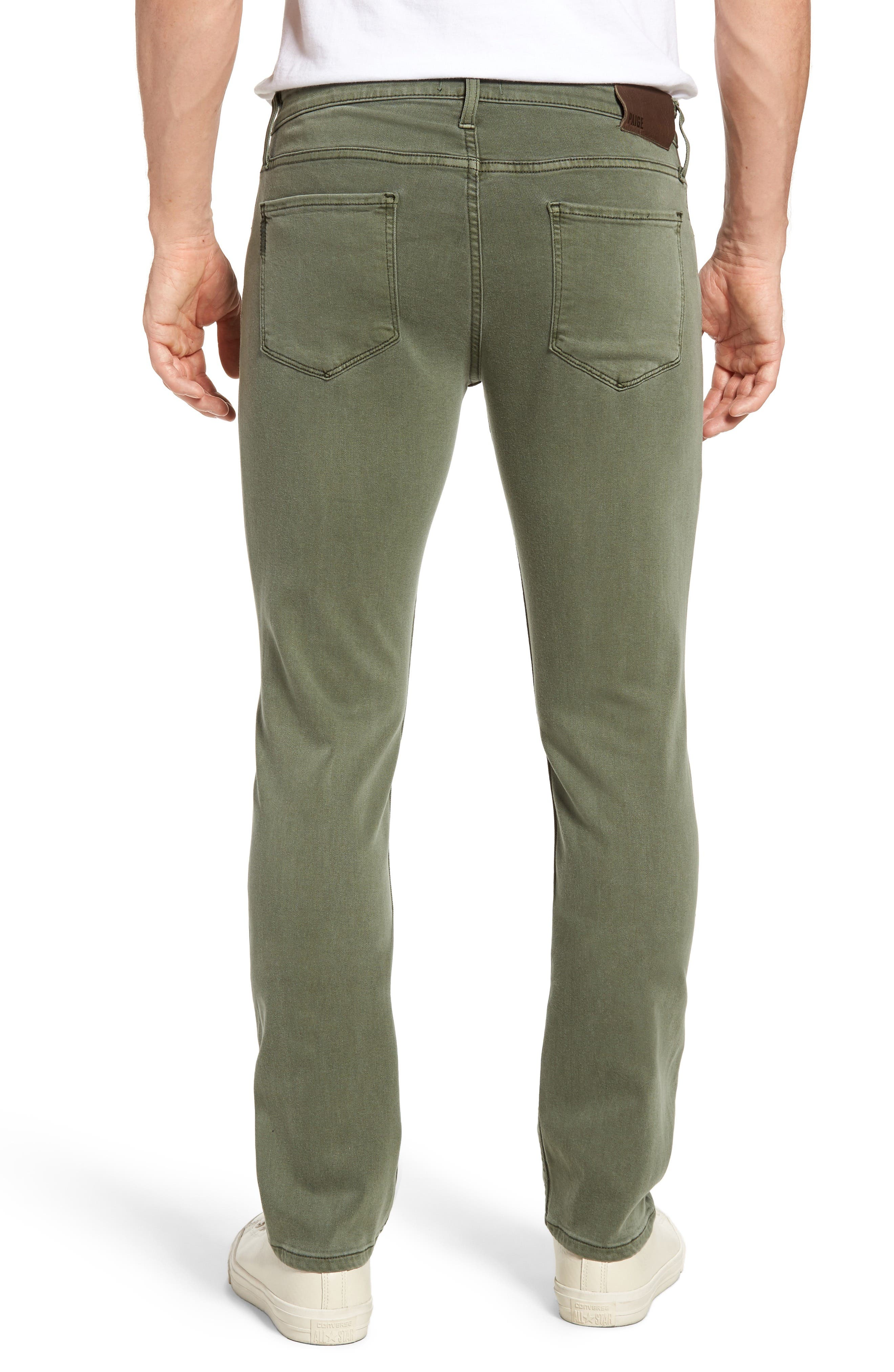 Alternate Image 2  - PAIGE Transcend - Federal Slim Straight Leg Jeans (Green House)