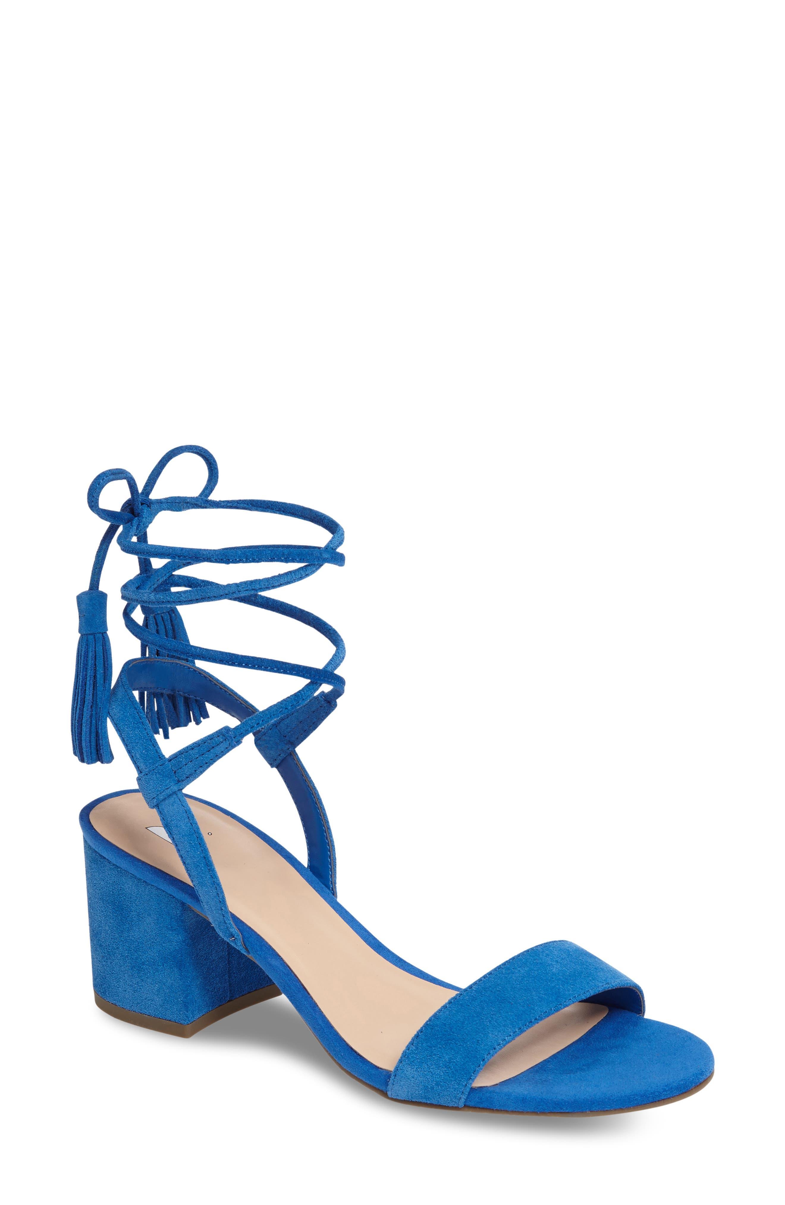 Alternate Image 1 Selected - BP. Karla Block Heel Ankle Wrap Sandal (Women)