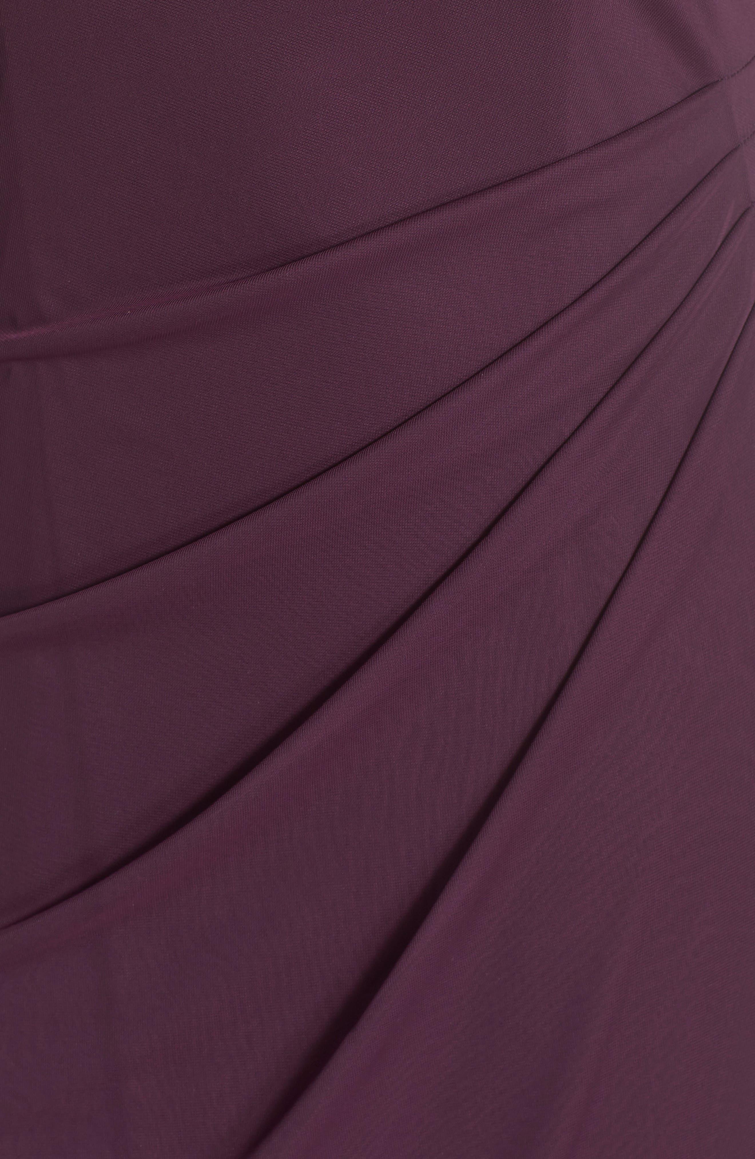 Alternate Image 5  - Xscape Beaded Neck Empire Gown (Plus Size)