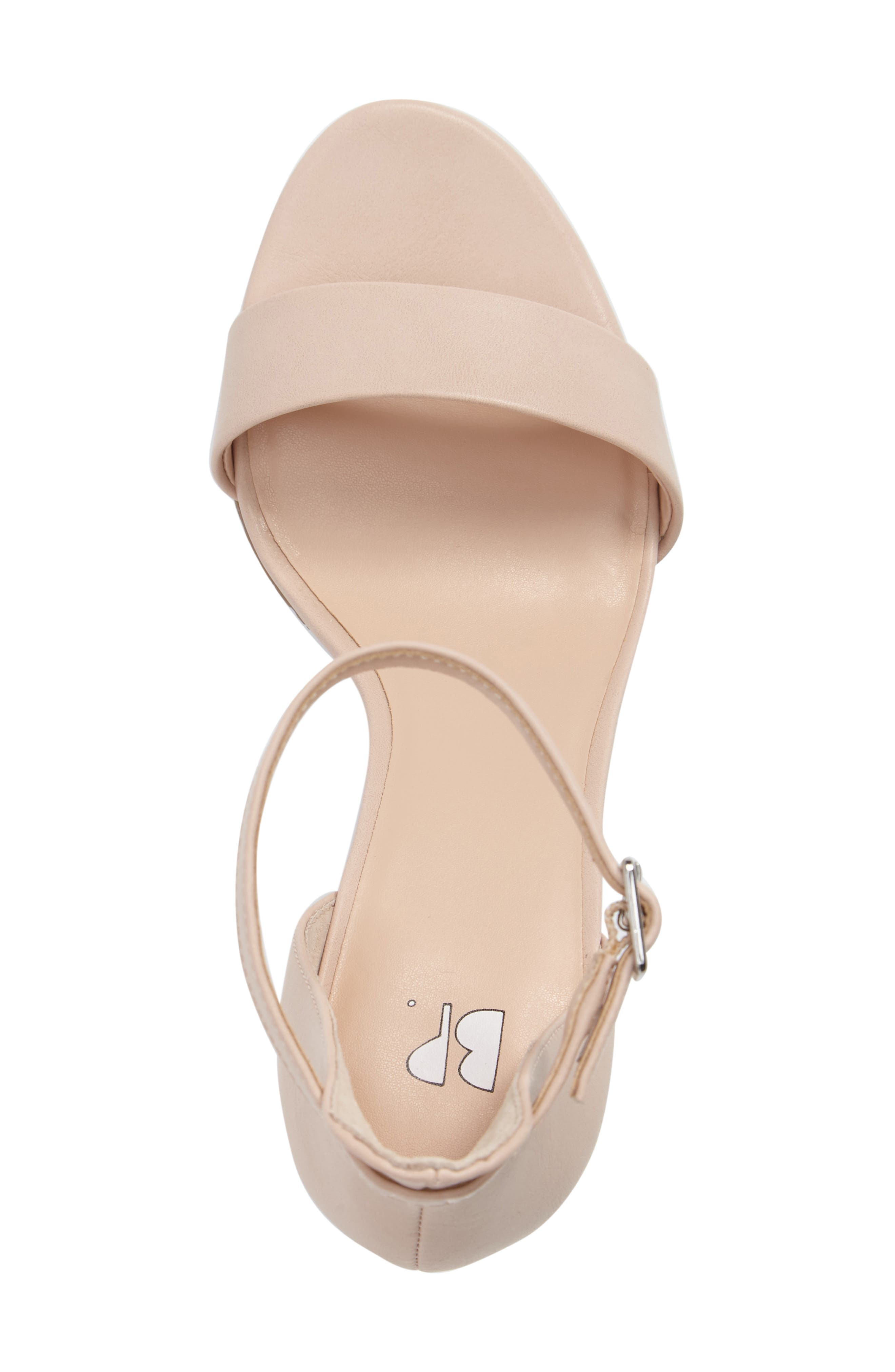 'Luminate' Open Toe Dress Sandal,                             Alternate thumbnail 5, color,                             Blush Faux Leather