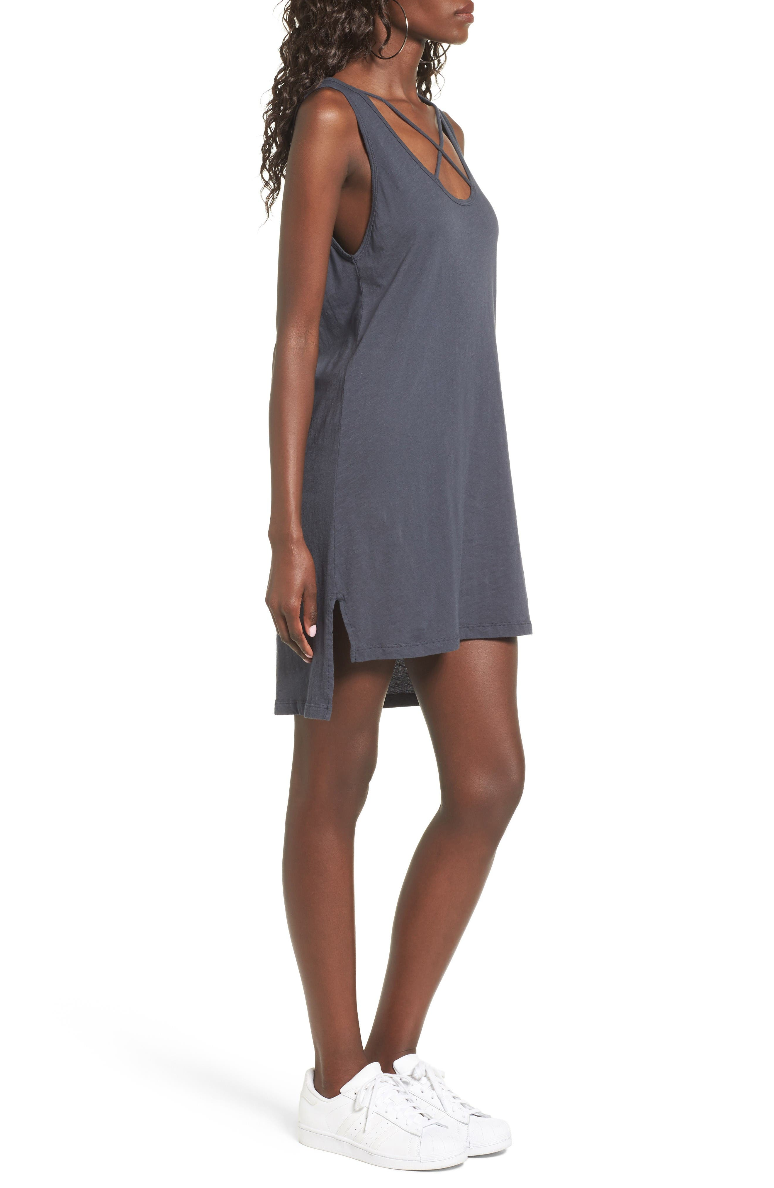 Alternate Image 3  - LNA Cross Strap Tank Dress