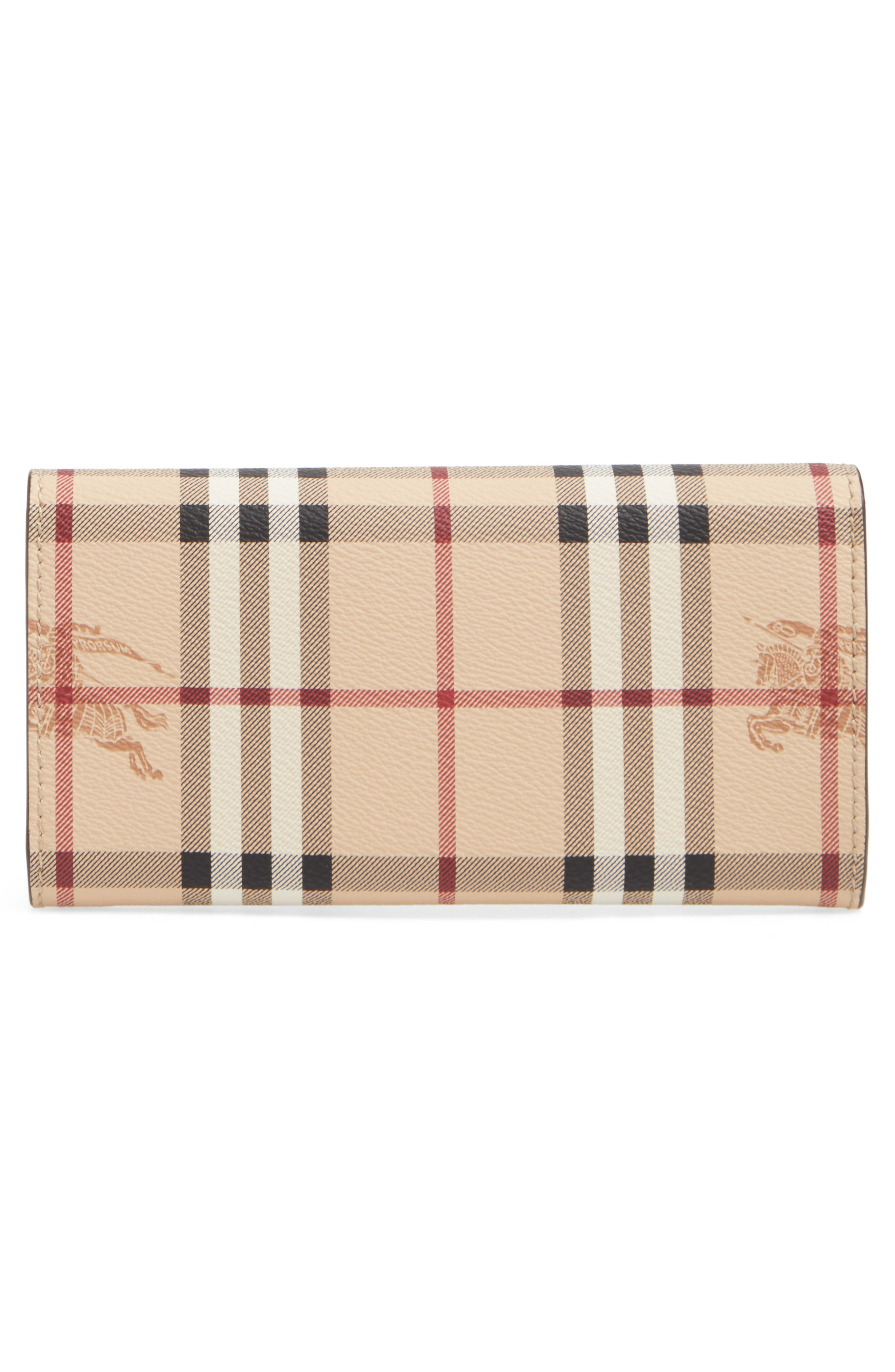 Alternate Image 3  - Burberry Halton Haymarket Check Continental Wallet