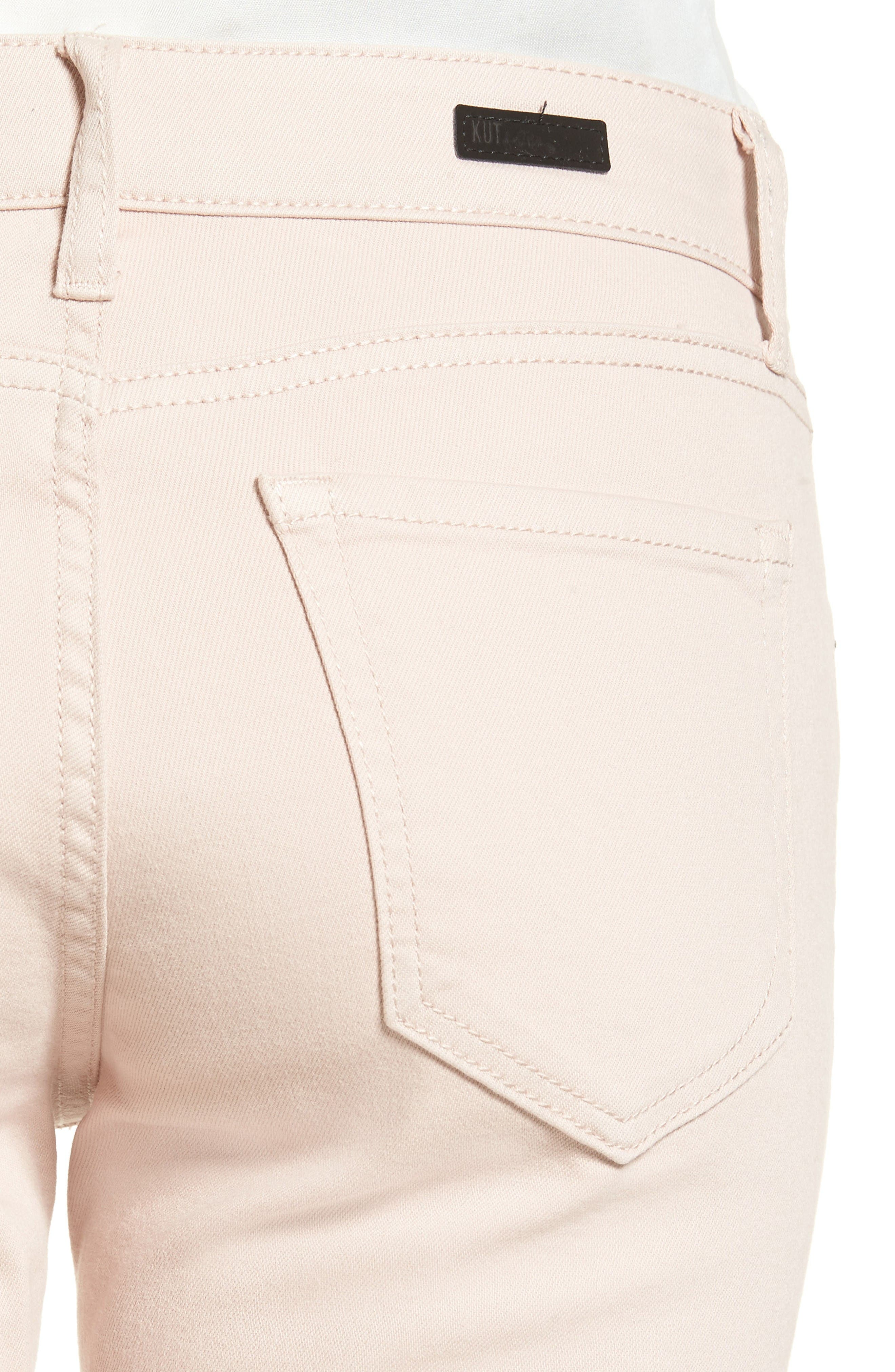 Alternate Image 4  - KUT from the Kloth Amy Stretch Slim Crop Jeans (Blush Rose)