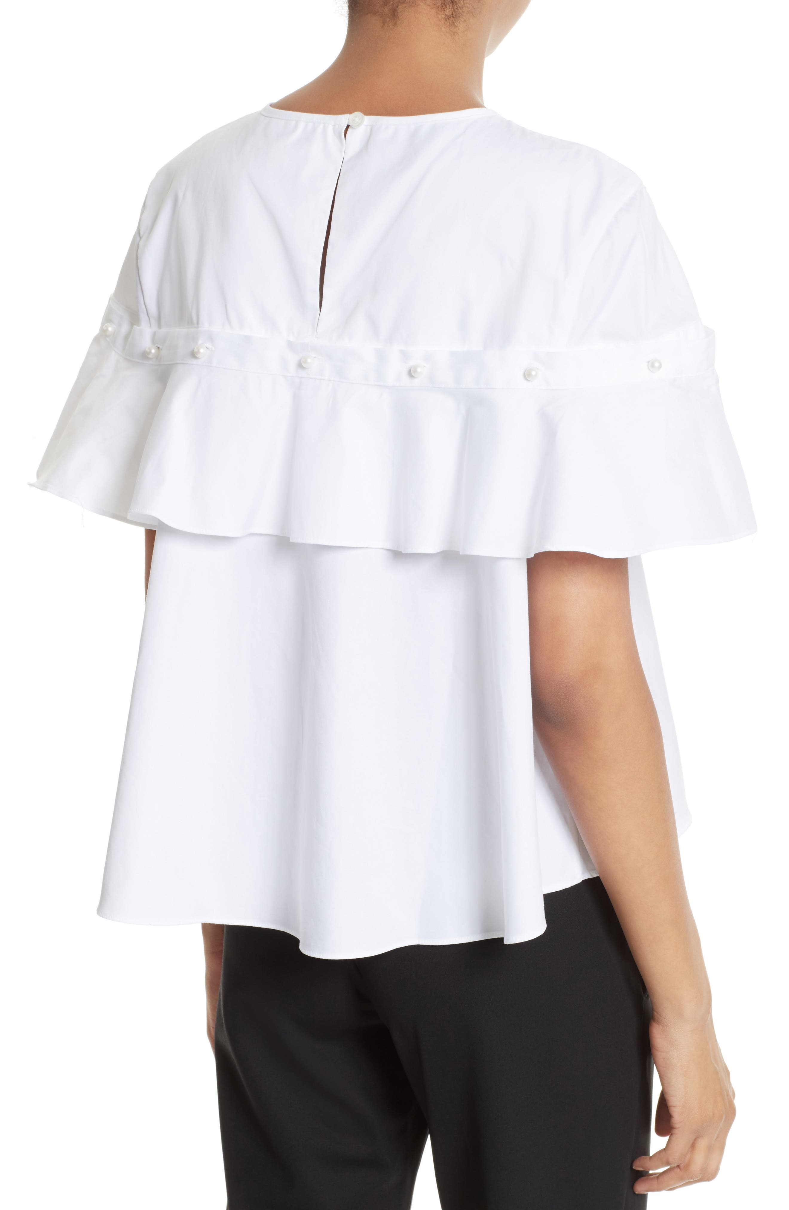 Alternate Image 2  - Jonathan Simkhai Cotton Ruffle Top