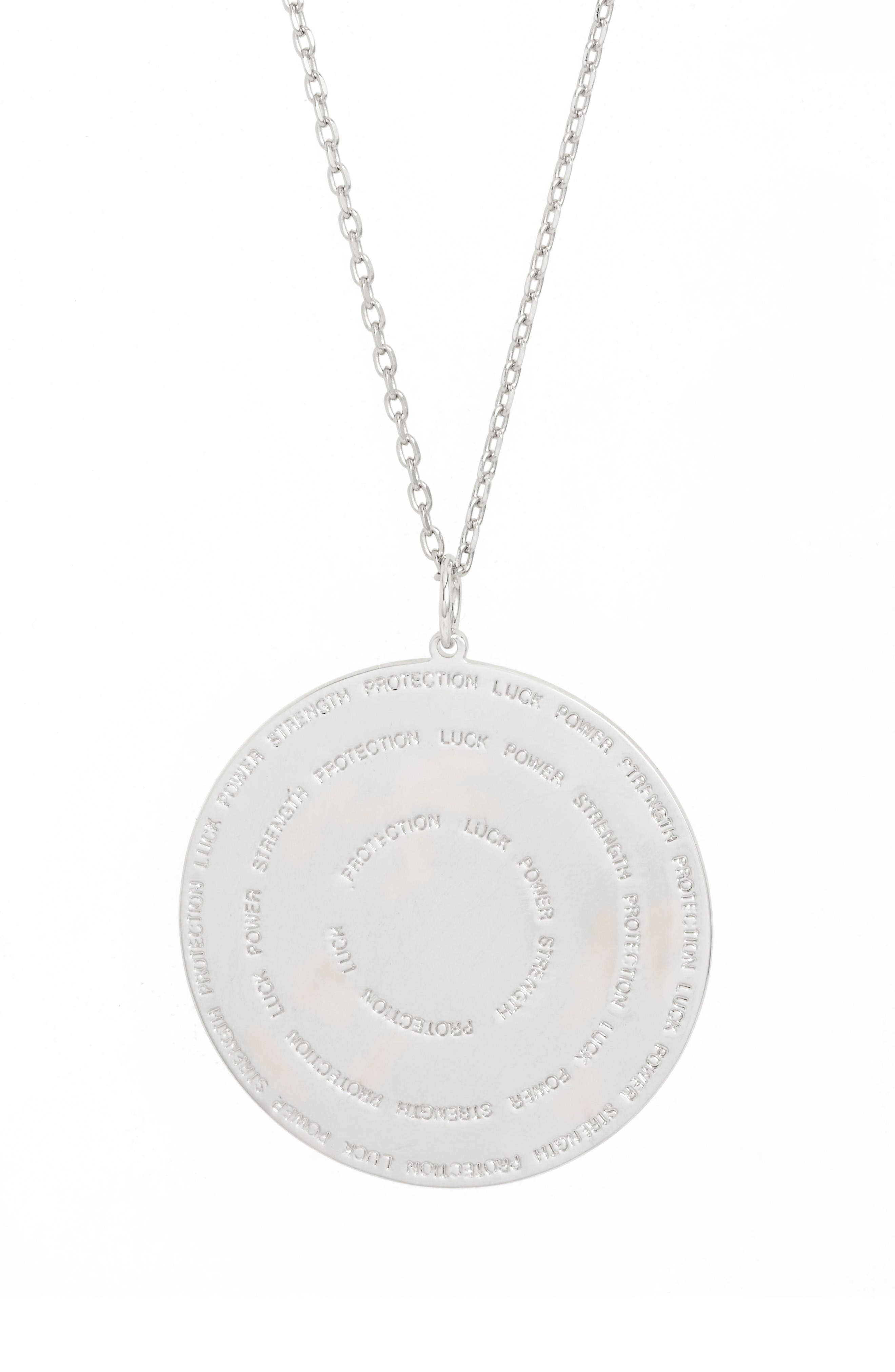 Alternate Image 4  - lulu dk Hamsa Love Letters Pendant Necklace