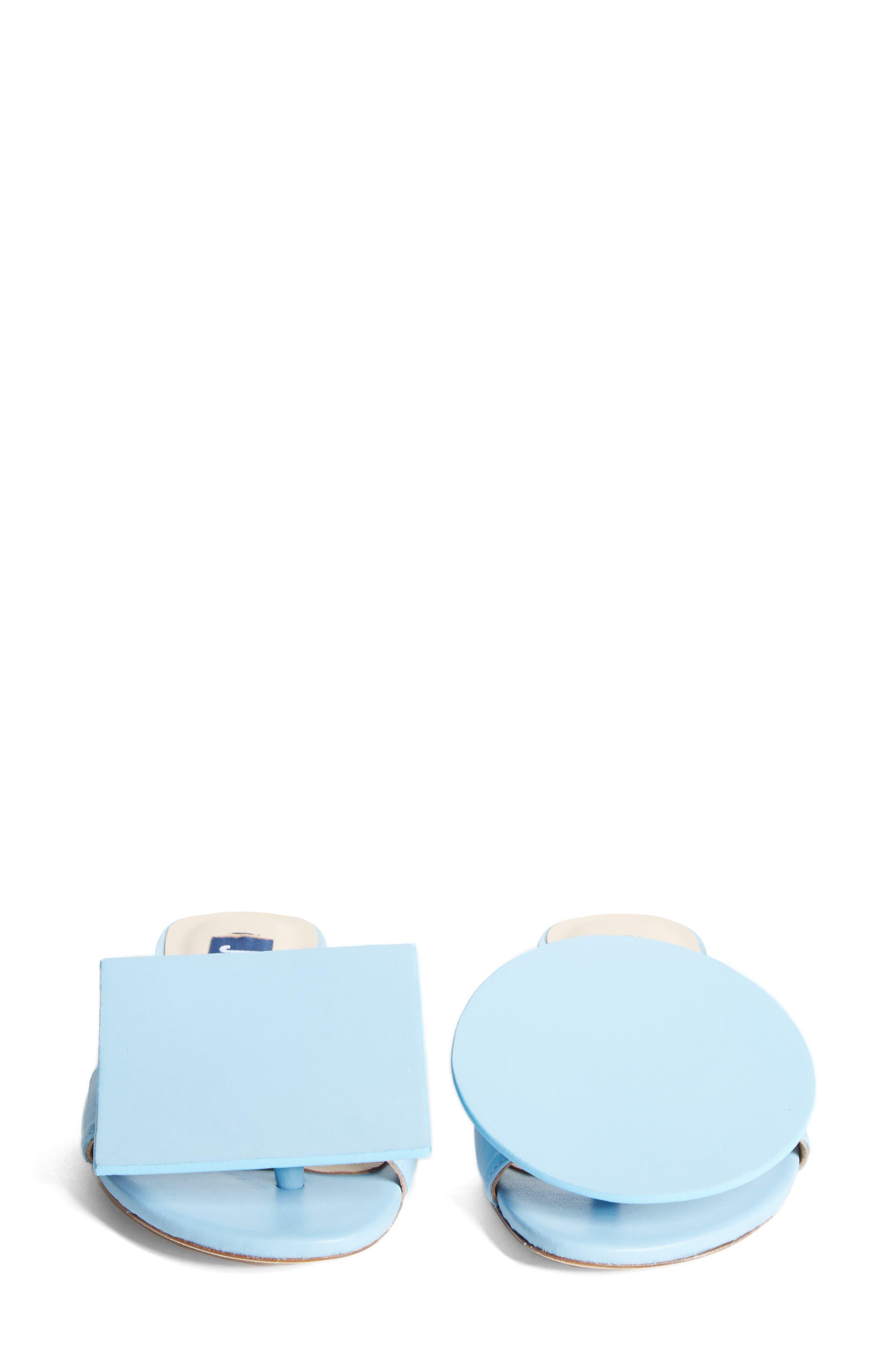 Les Sandales Rond Carré Sandal,                             Alternate thumbnail 5, color,                             Light Blue