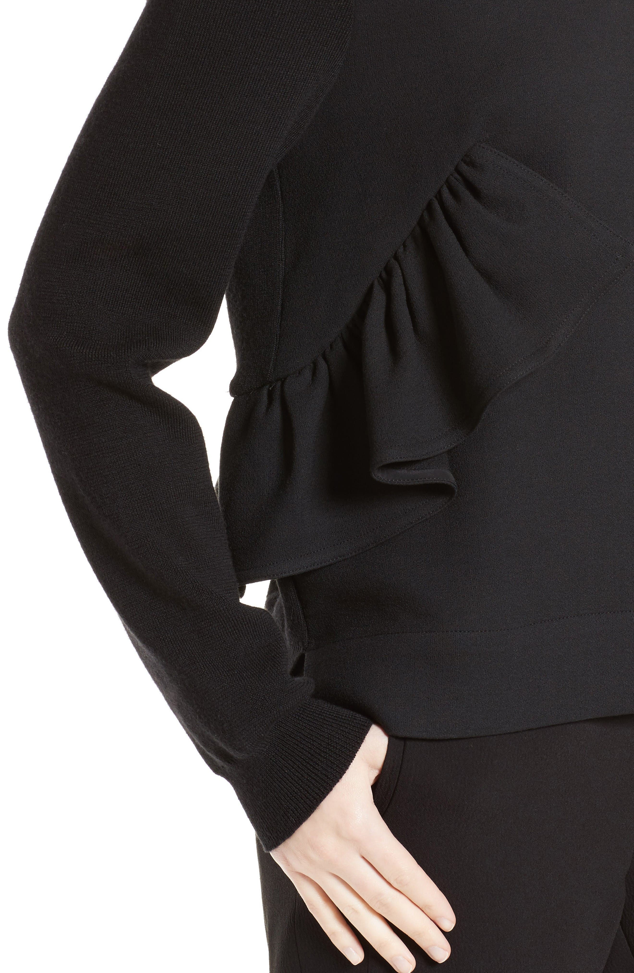 Alternate Image 6  - Marni Ruffle Crewneck Sweater