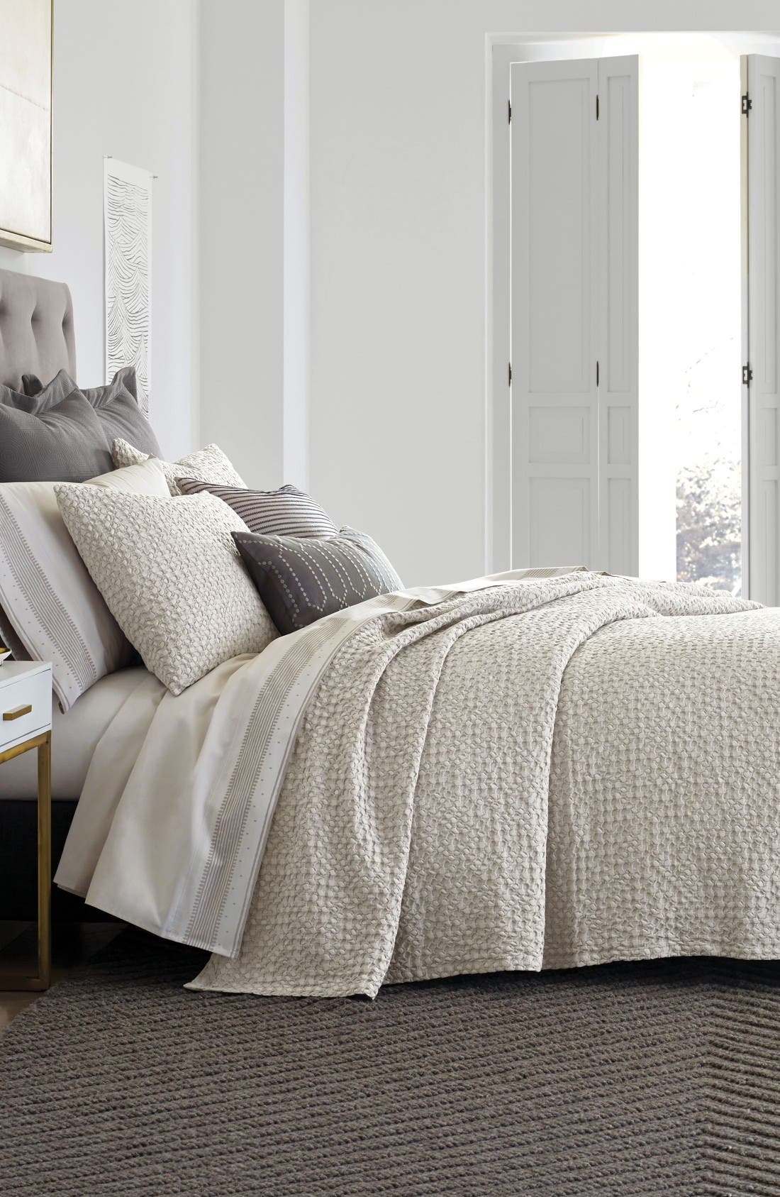 Thayer Coverlet,                         Main,                         color, Pumice