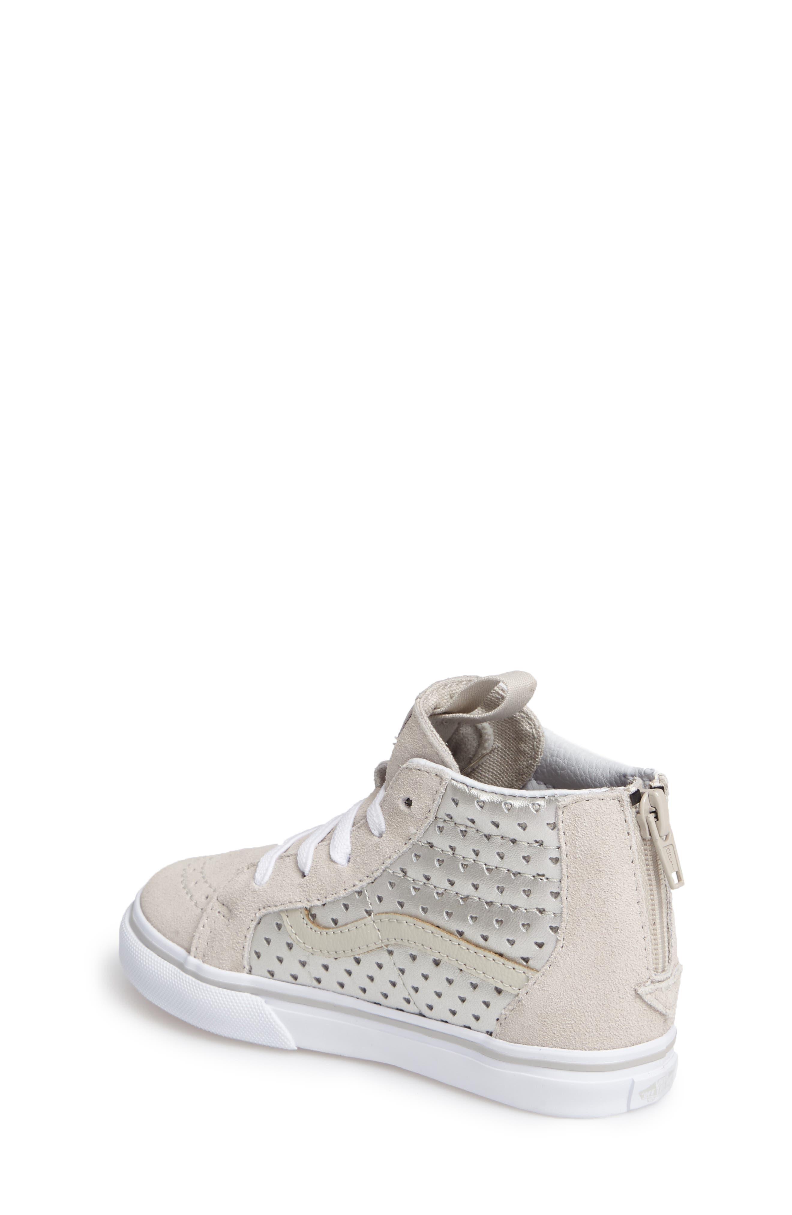 Alternate Image 2  - Vans Sk8-Hi Zip Sneaker (Baby, Walker, Toddler, Little Kid & Big Kid)