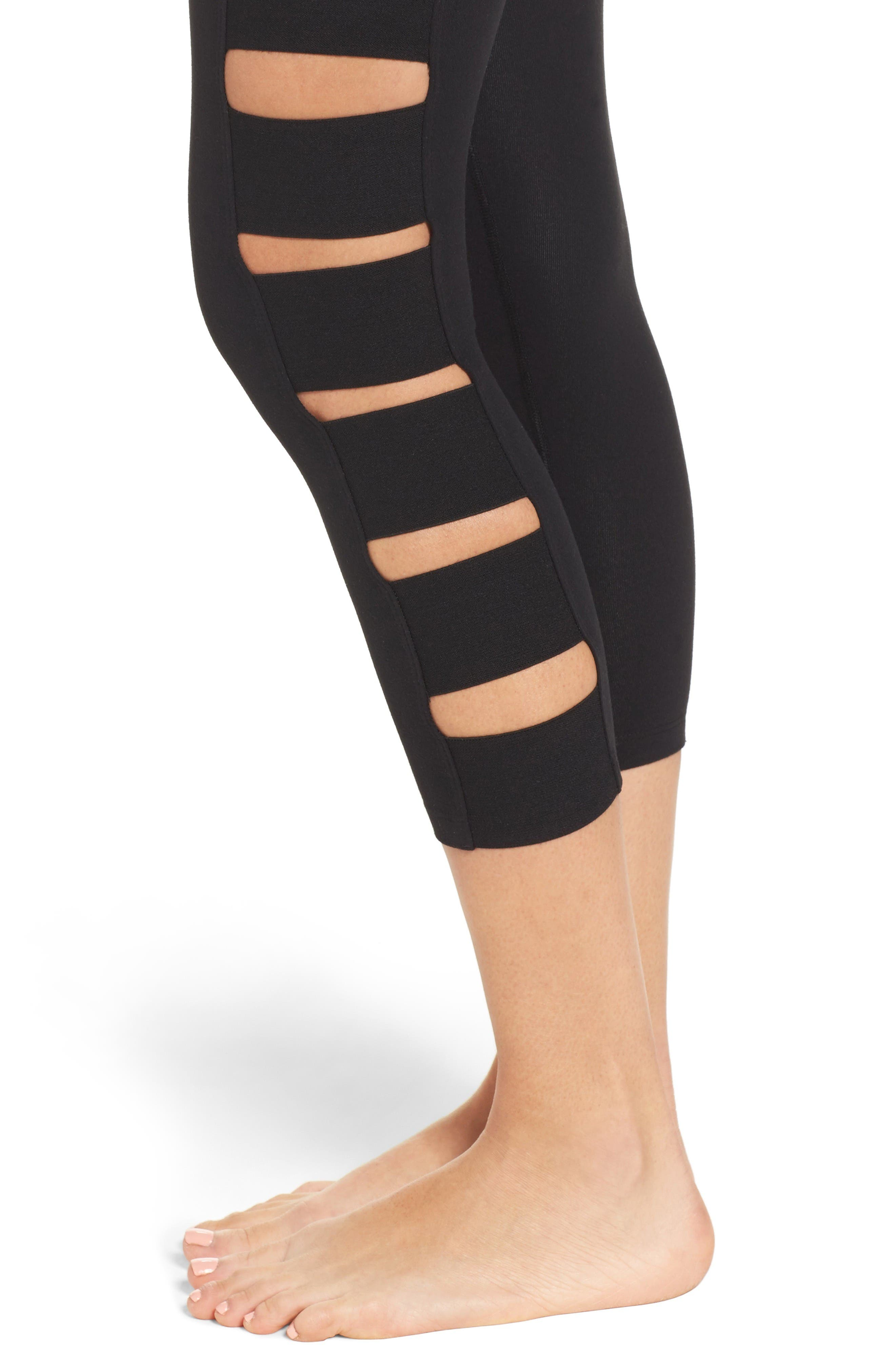 Alternate Image 4  - Beyond Yoga Wide Band Stacked Capris