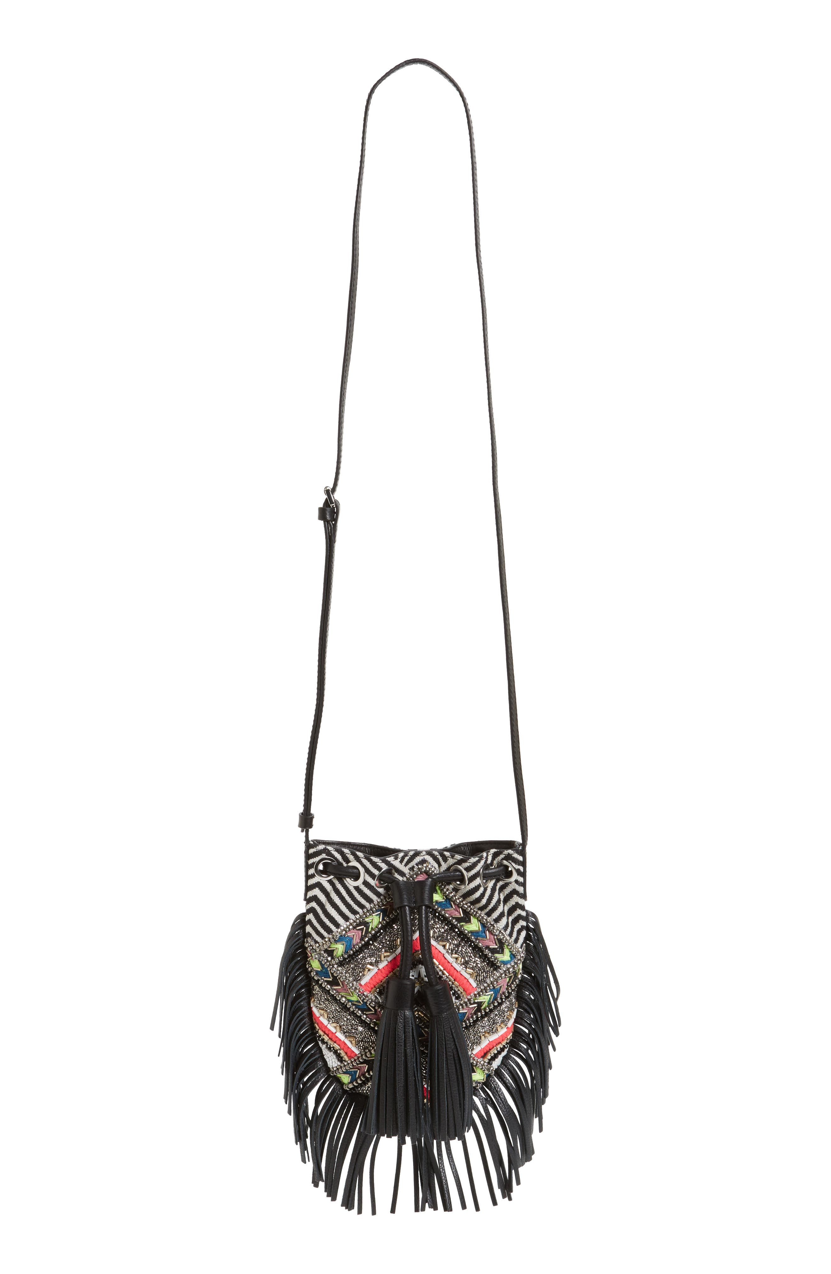 Alternate Image 1 Selected - Rebecca Minkoff Wonder Phone Canvas Crossbody Bag