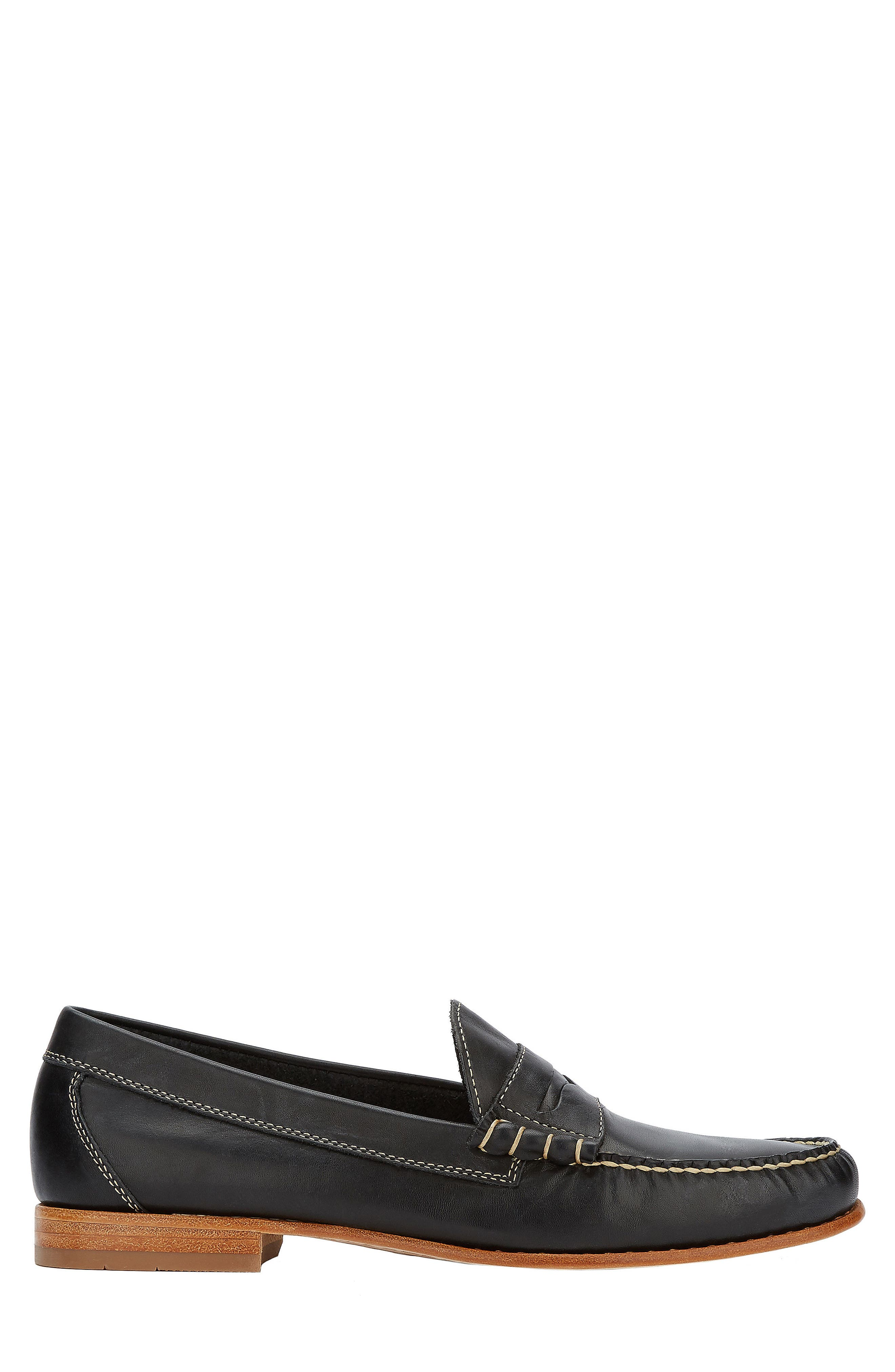 Weejuns Lambert Penny Loafer,                             Alternate thumbnail 3, color,                             Black