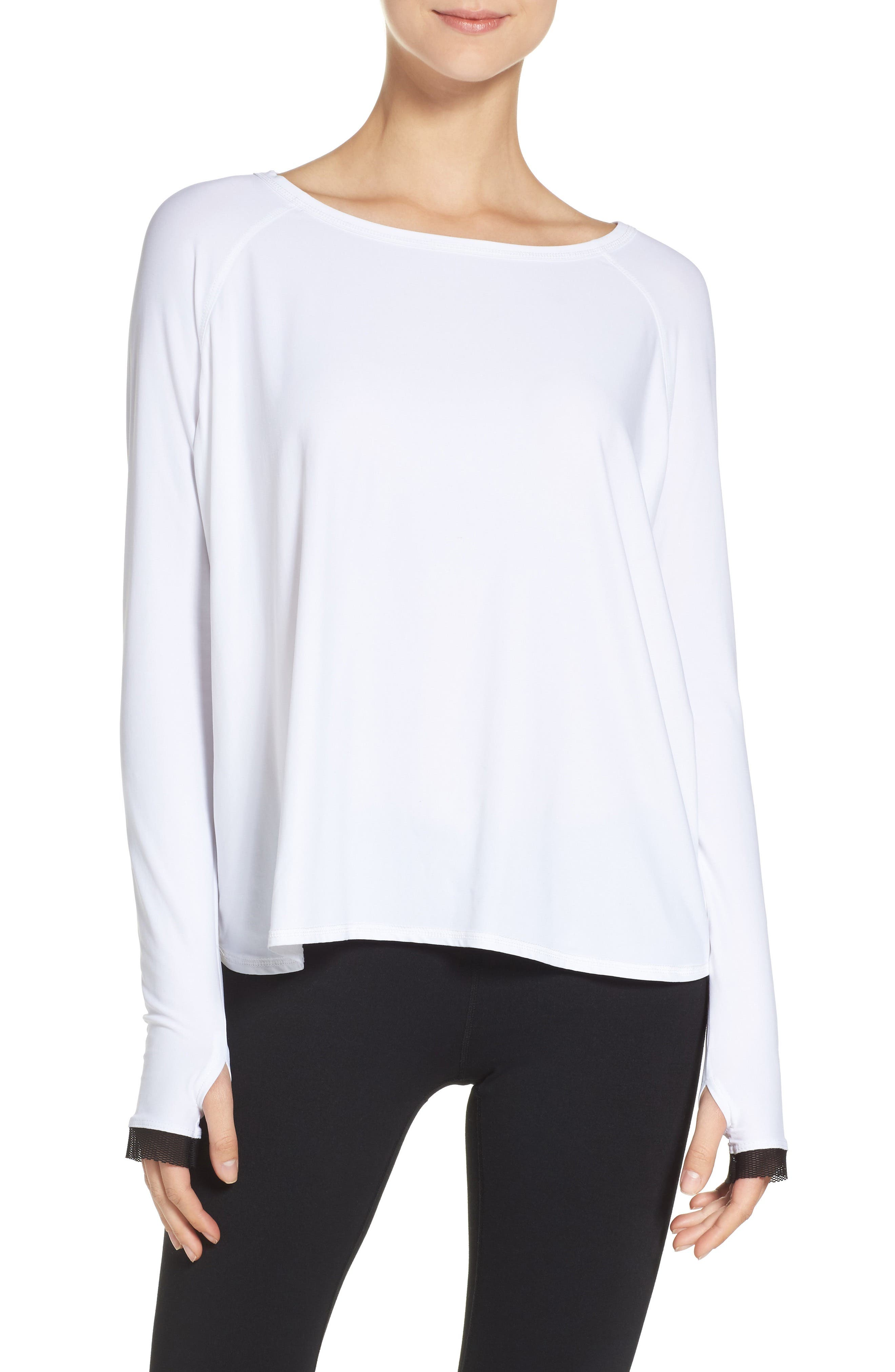 Fractal Jersey Tee,                         Main,                         color, White