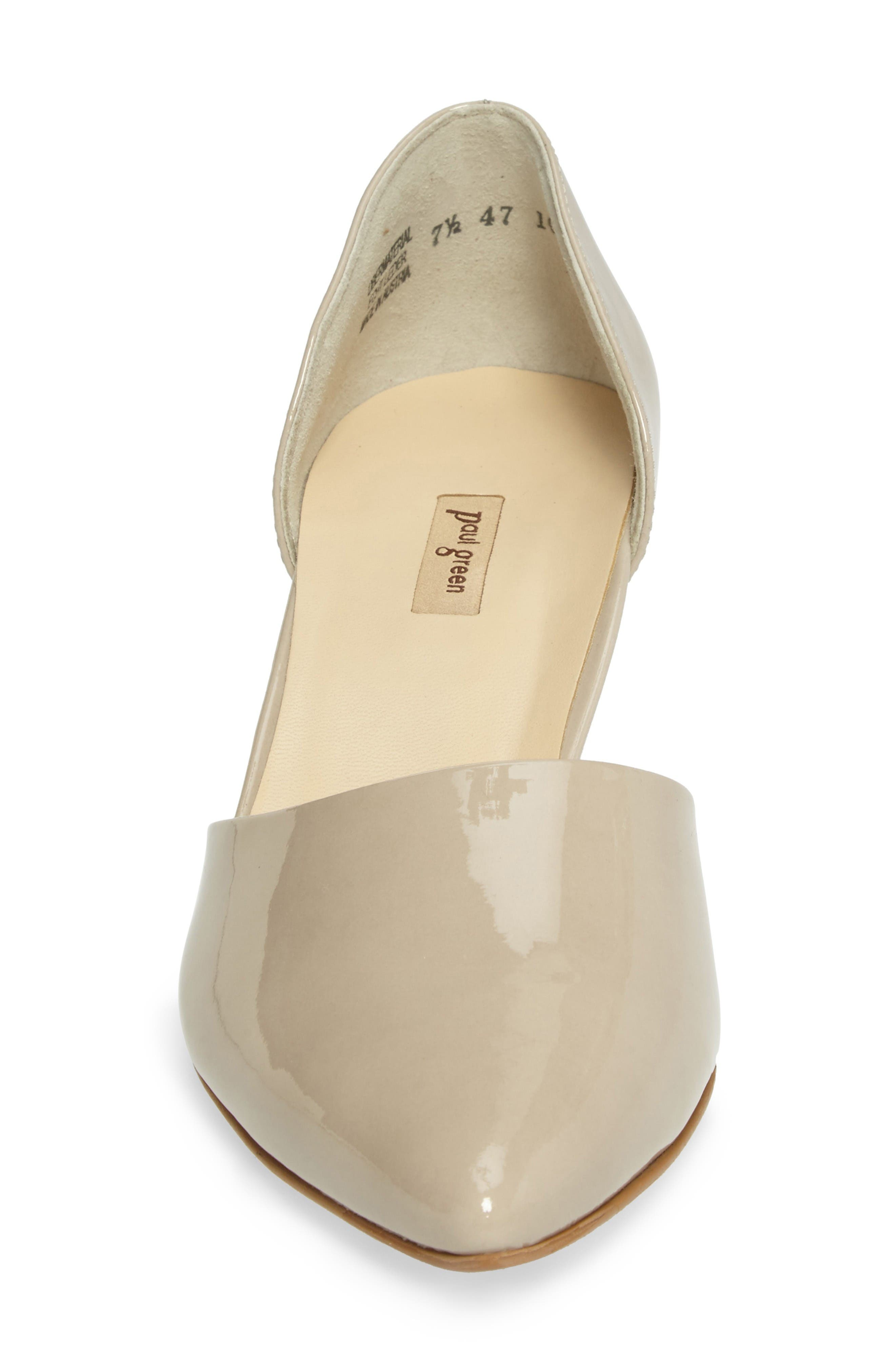 'Julia' d'Orsay Pump,                             Alternate thumbnail 4, color,                             Taupe Patent