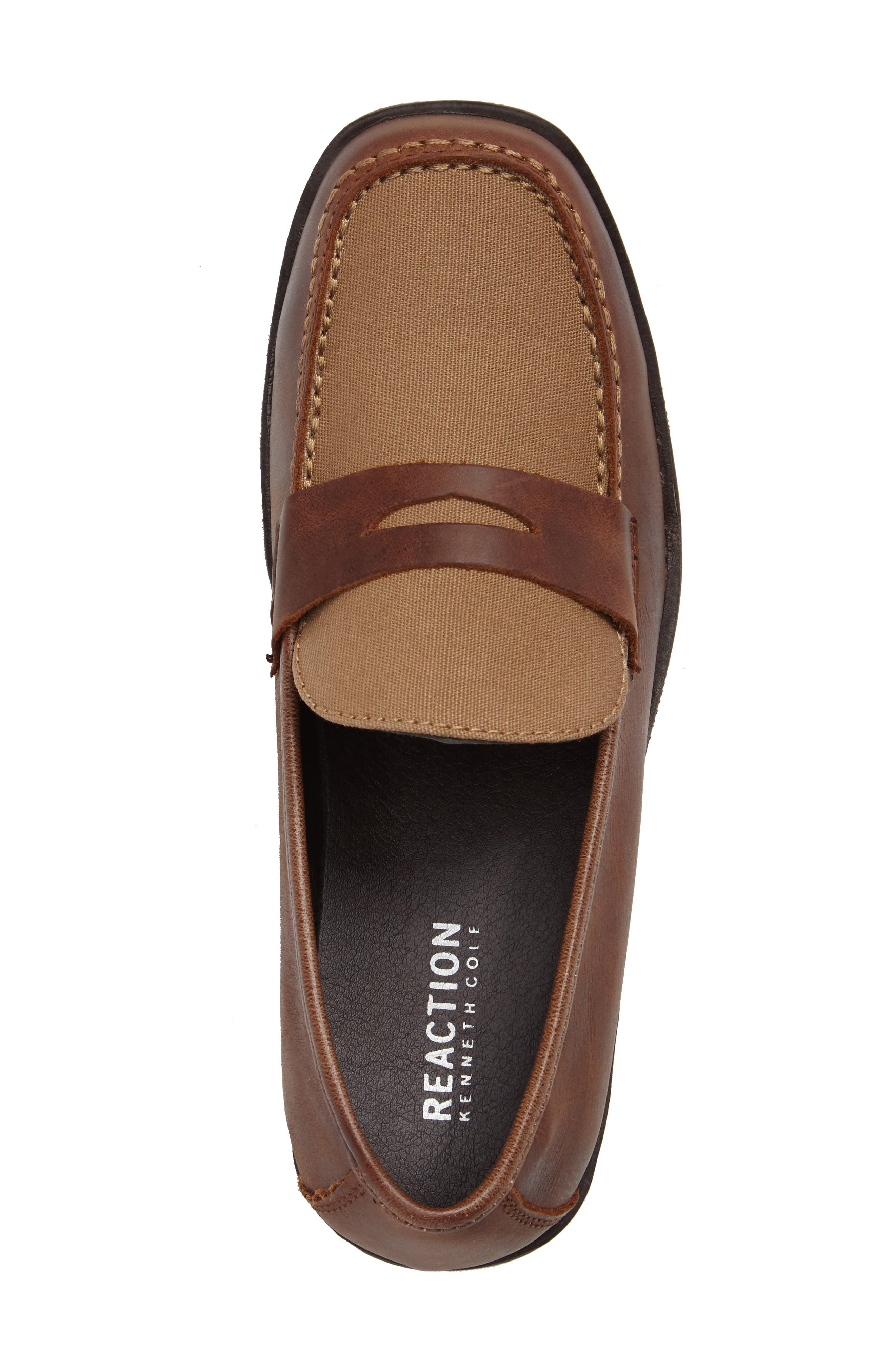 Club Loft Loafer,                             Alternate thumbnail 5, color,                             Tan/ Brown Leather