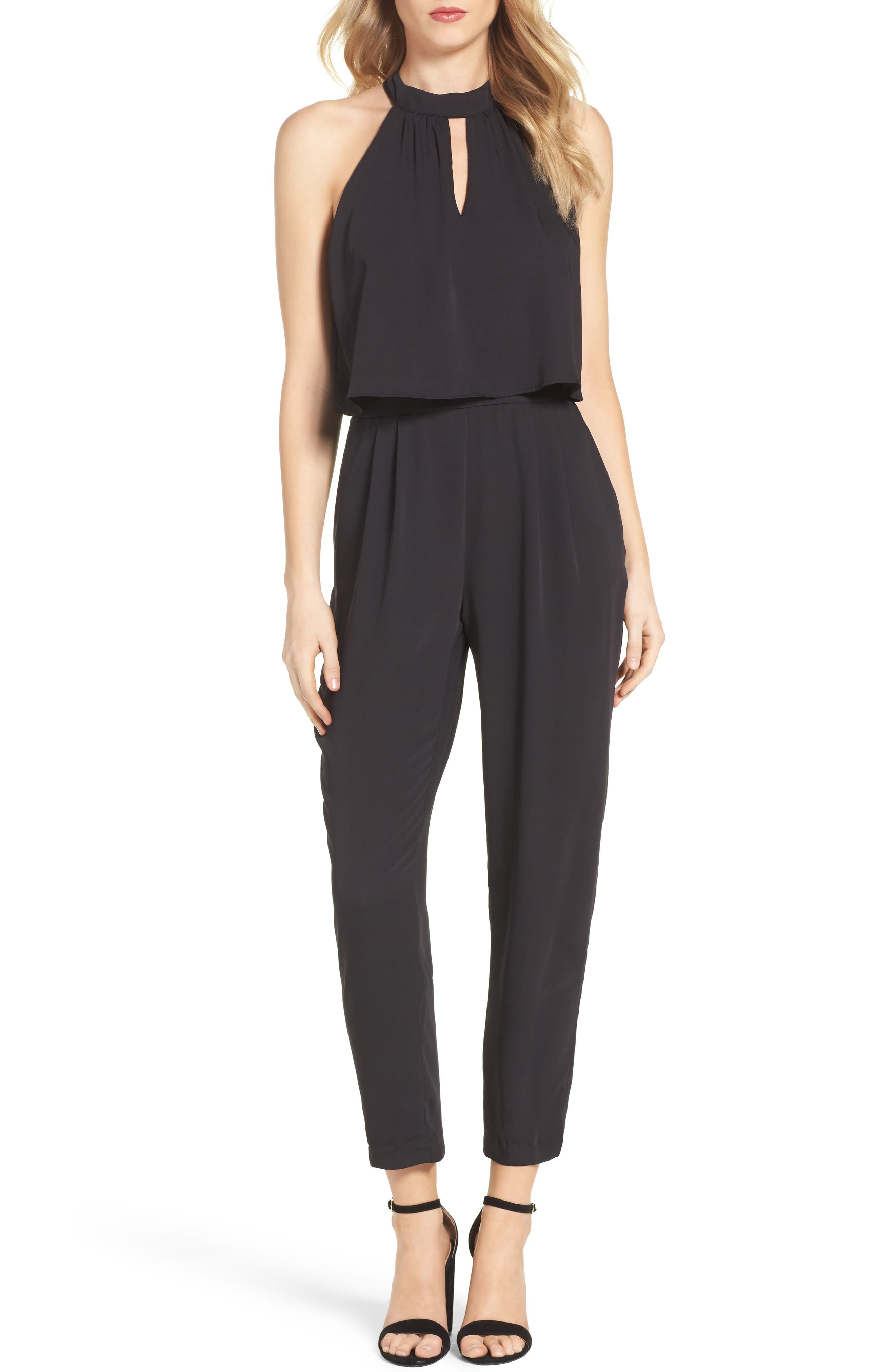 Nayden Popover Jumpsuit,                             Main thumbnail 1, color,                             Black