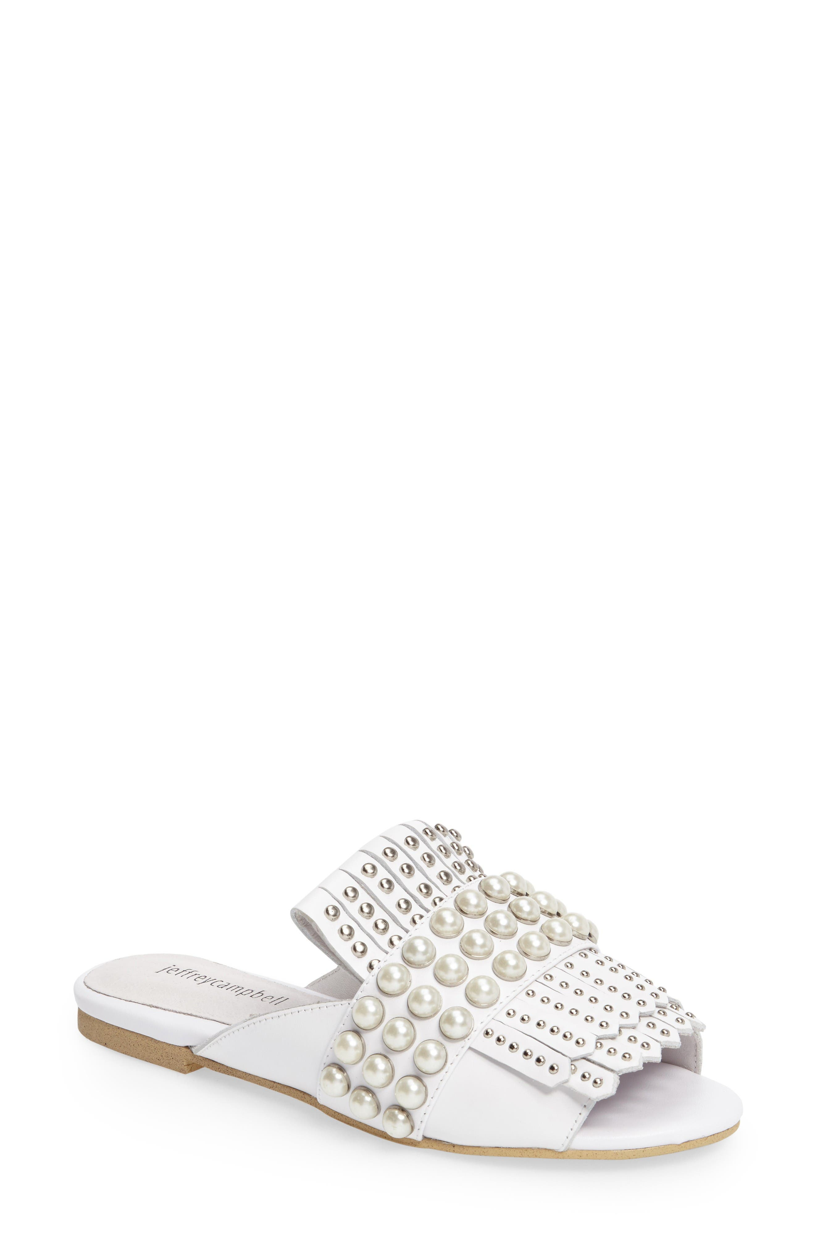 Alternate Image 1 Selected - Jeffrey Campbell Talley Embellished Loafer Mule (Women)