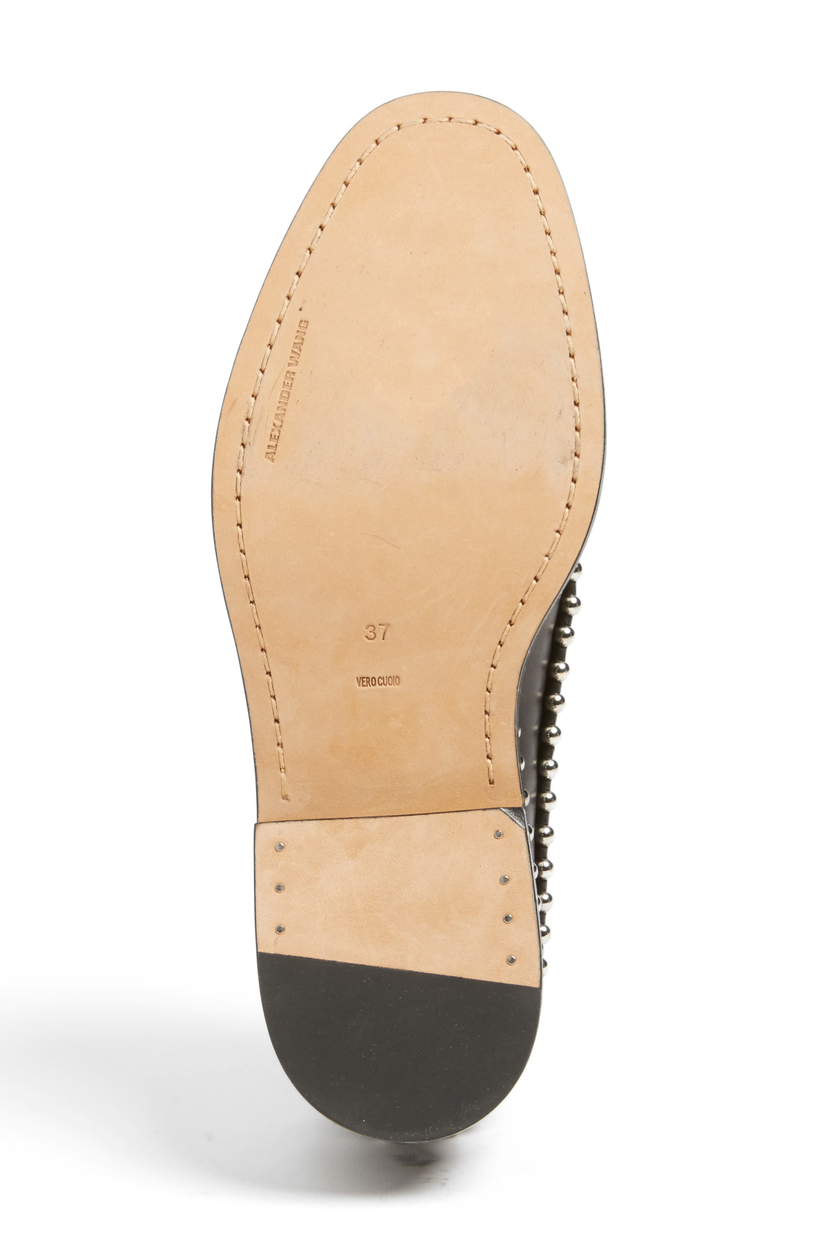 Wendie Studded Oxford,                             Alternate thumbnail 6, color,                             Black Leather