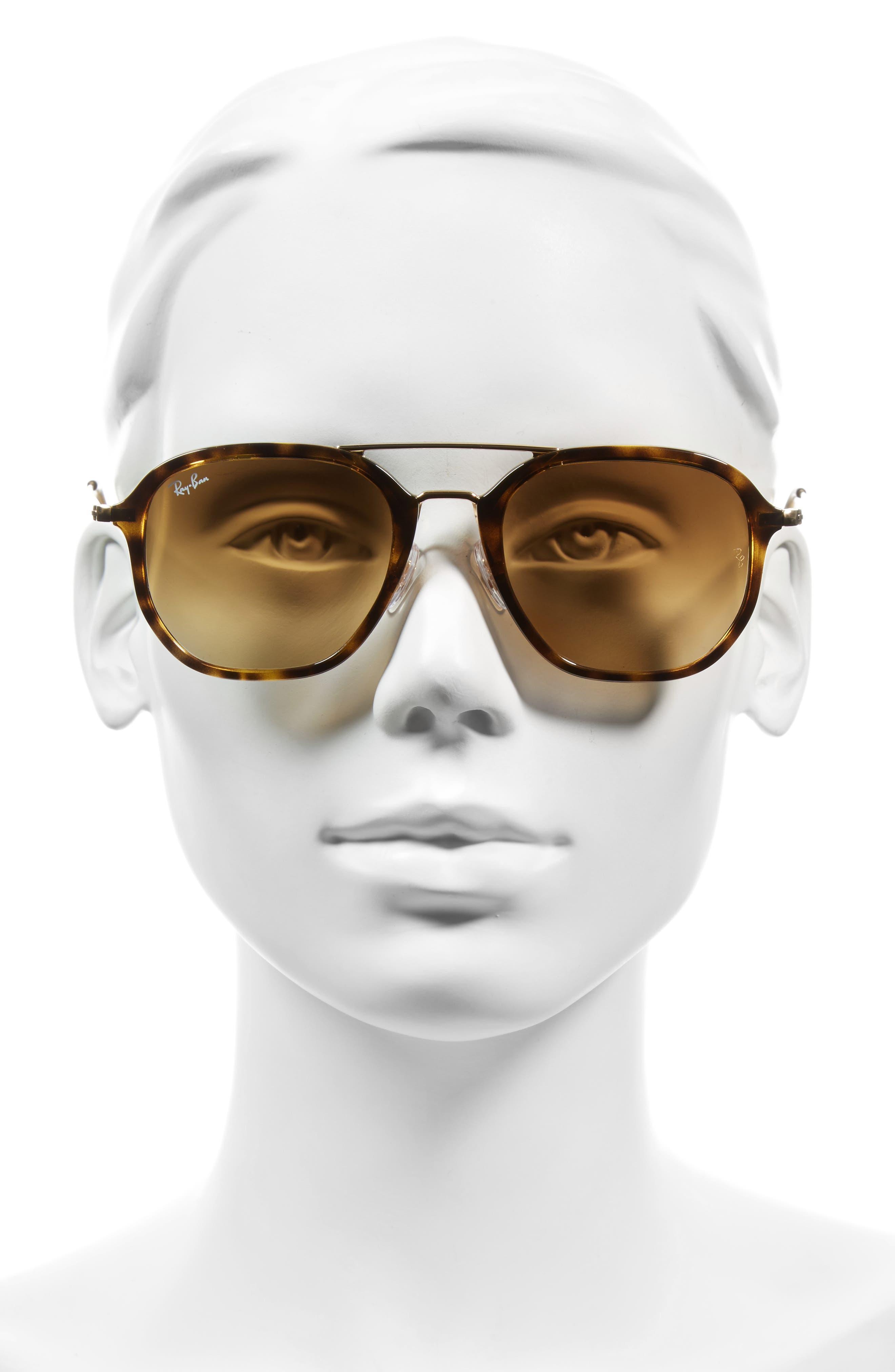 52mm Square Sunglasses,                             Alternate thumbnail 2, color,                             Havana