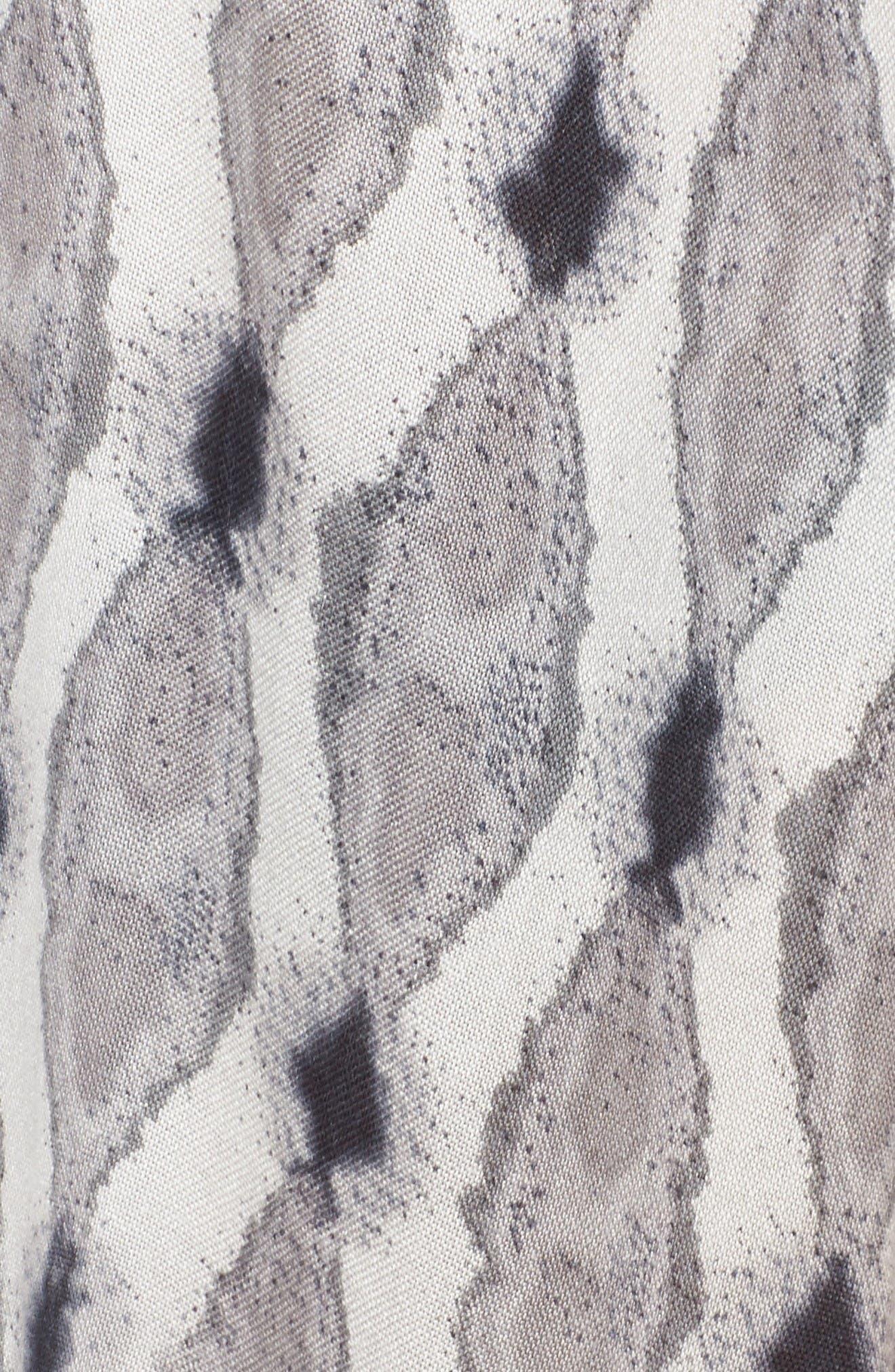 Caslon<sup>®</sup> Tie Dye Tassel Wrap,                             Alternate thumbnail 5, color,                             Black Combo