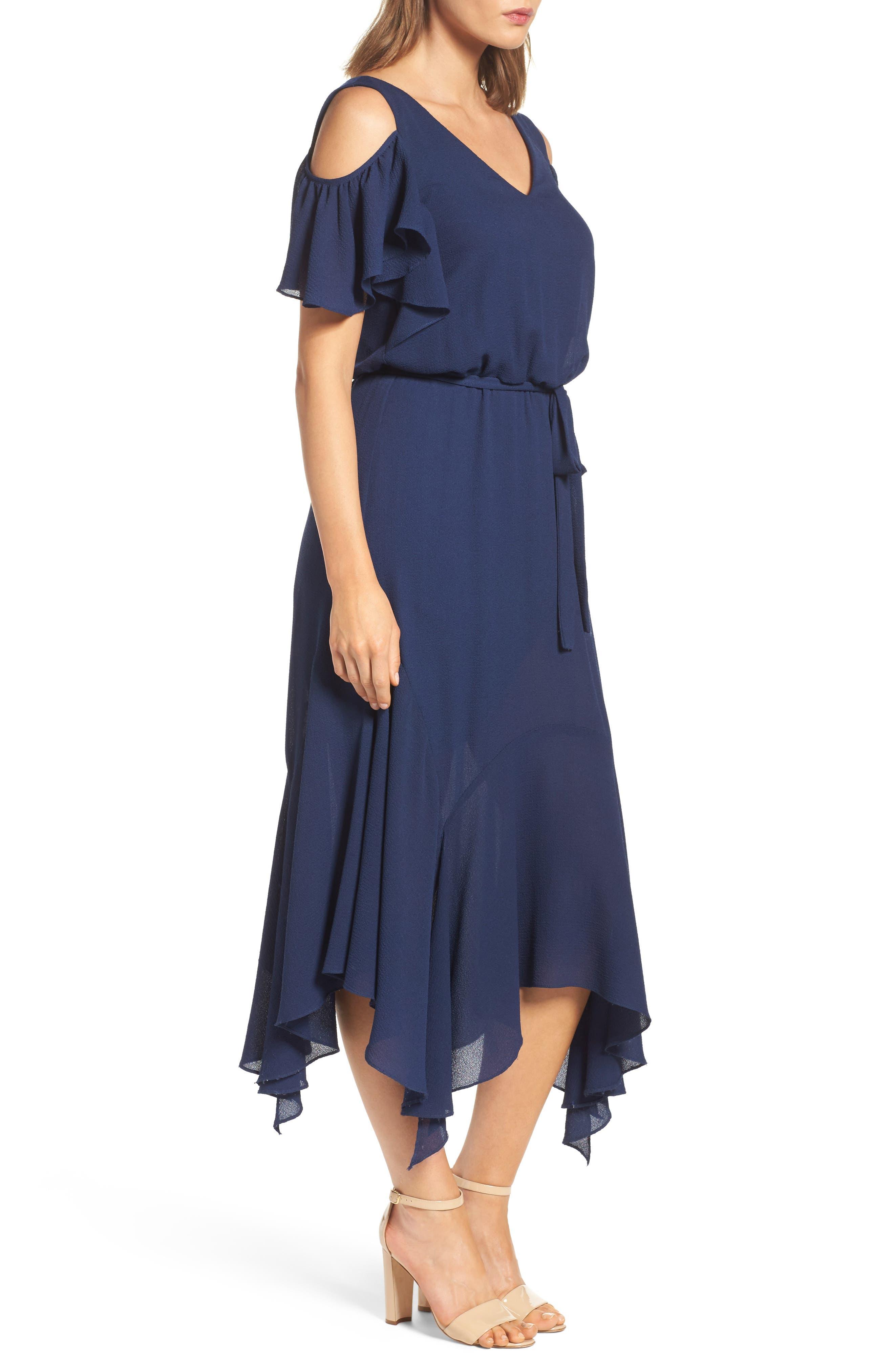 Alternate Image 4  - Maggy London Cold Shoulder Midi Dress (Regular & Petite)