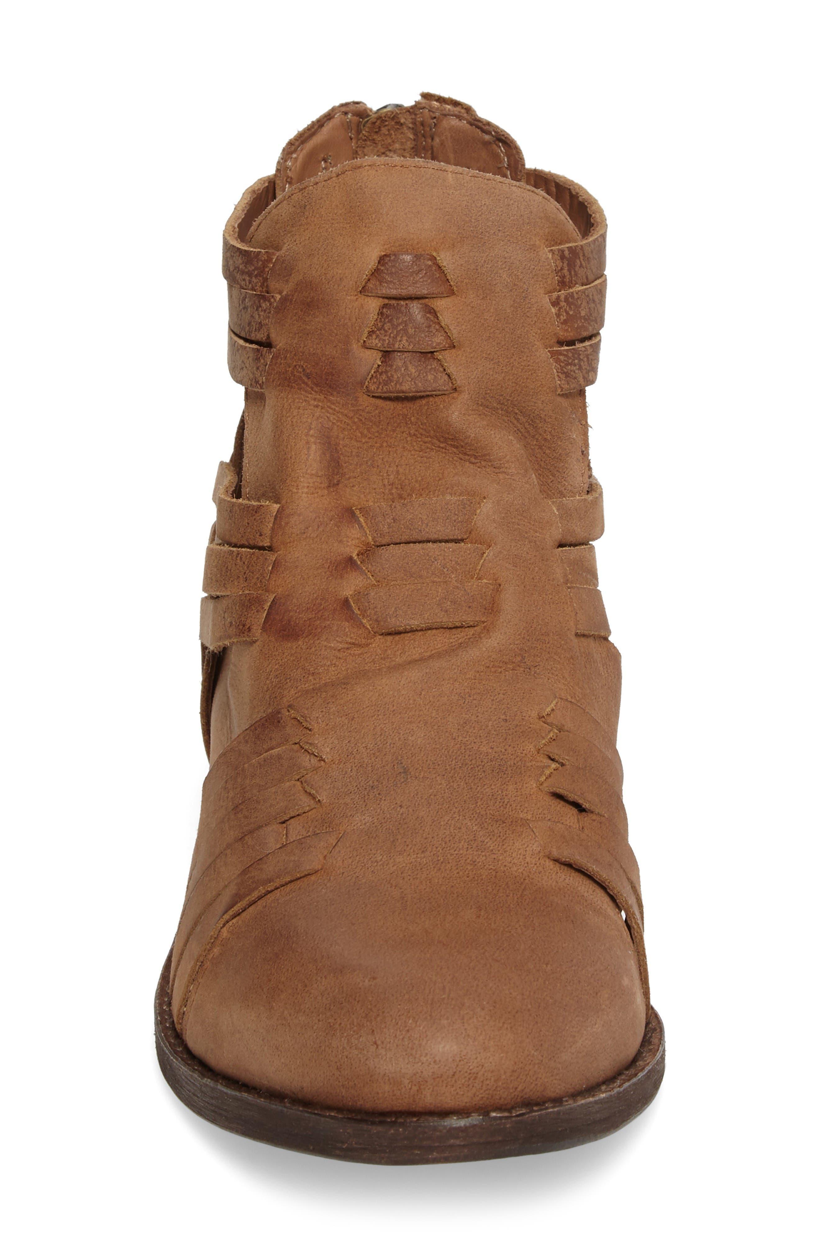 Fairuz Bootie,                             Alternate thumbnail 4, color,                             Tan Leather