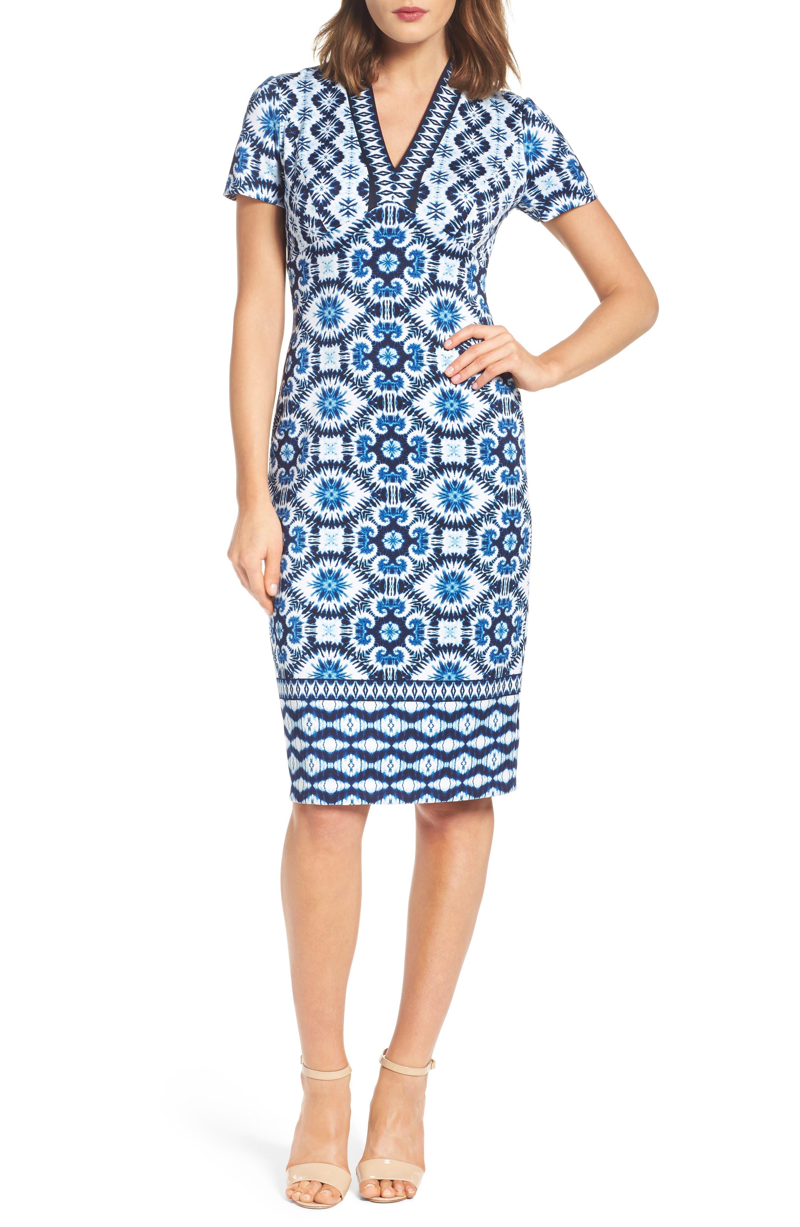 Alternate Image 4  - Maggy London Ikat Sheath Dress