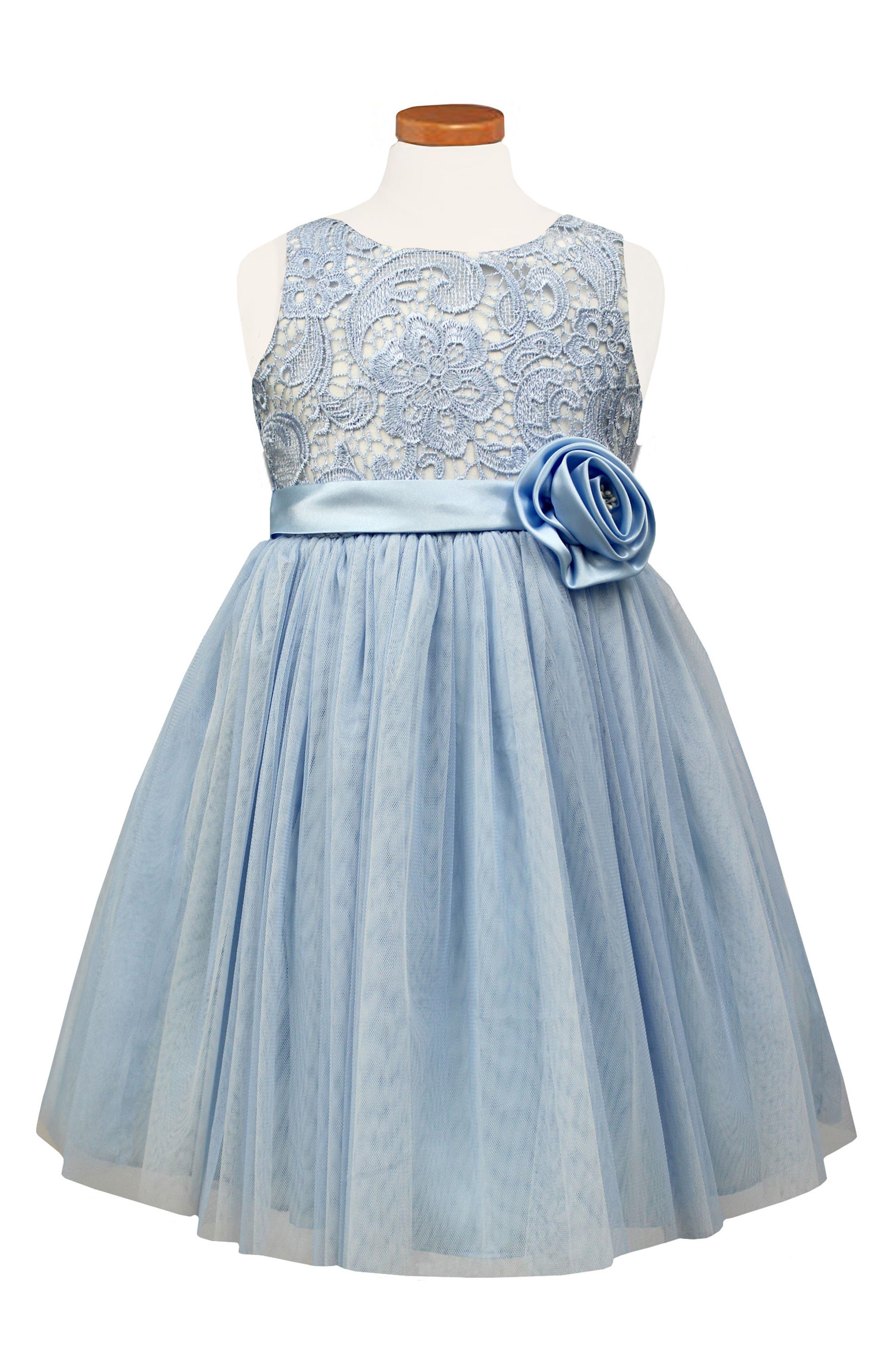 Main Image - Sorbet Floral Lace Ballerina Dress (Toddler Girls & Little Girls)