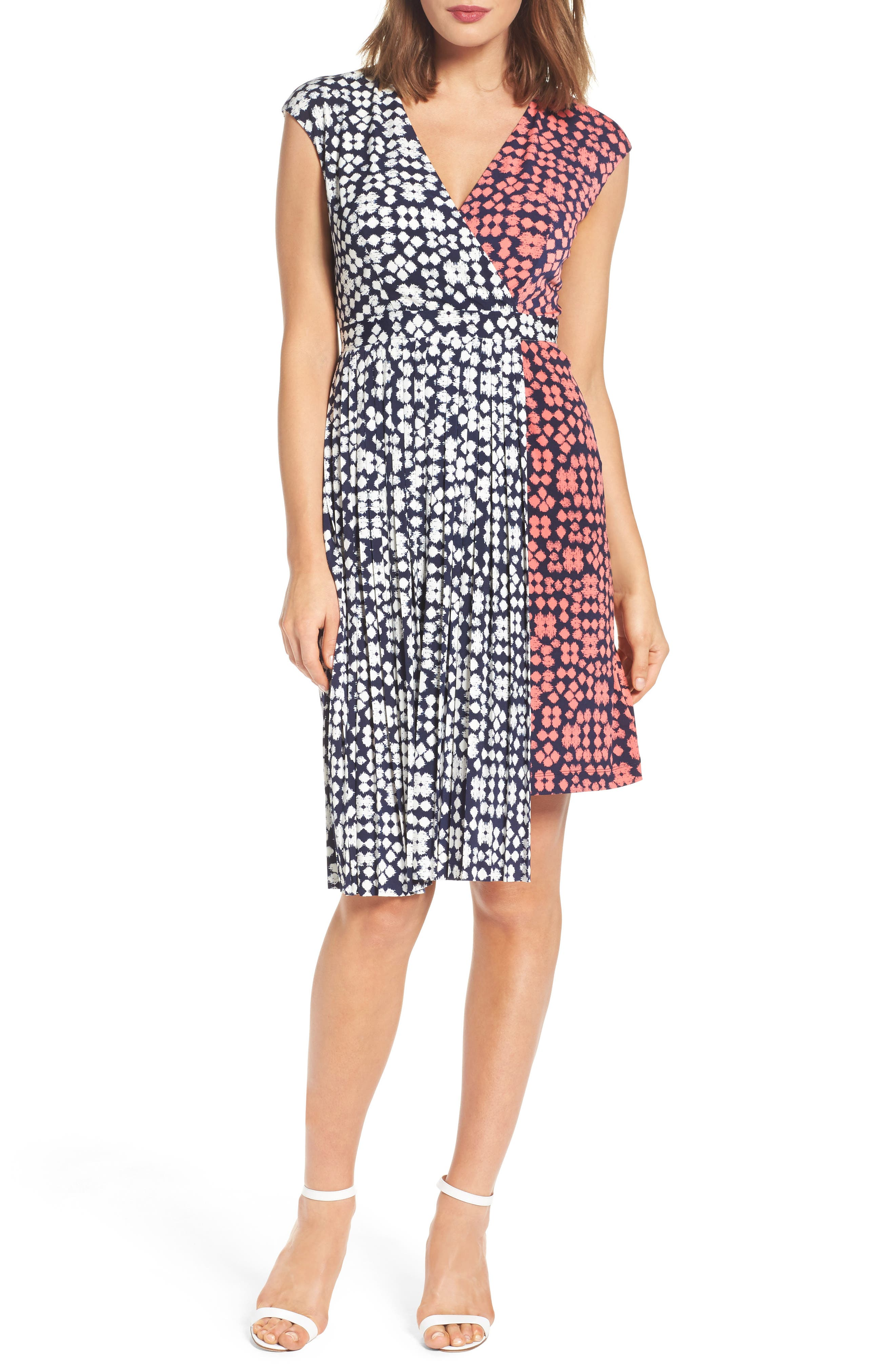 Alternate Image 4  - Maggy London Print Faux Wrap Dress