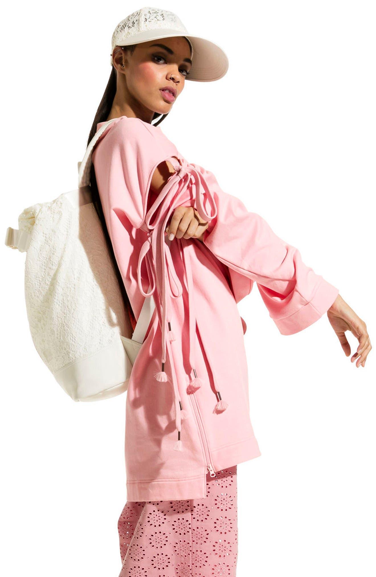 Alternate Image 5  - FENTY PUMA by Rihanna Oversize Convertible Sleeve Sweatshirt